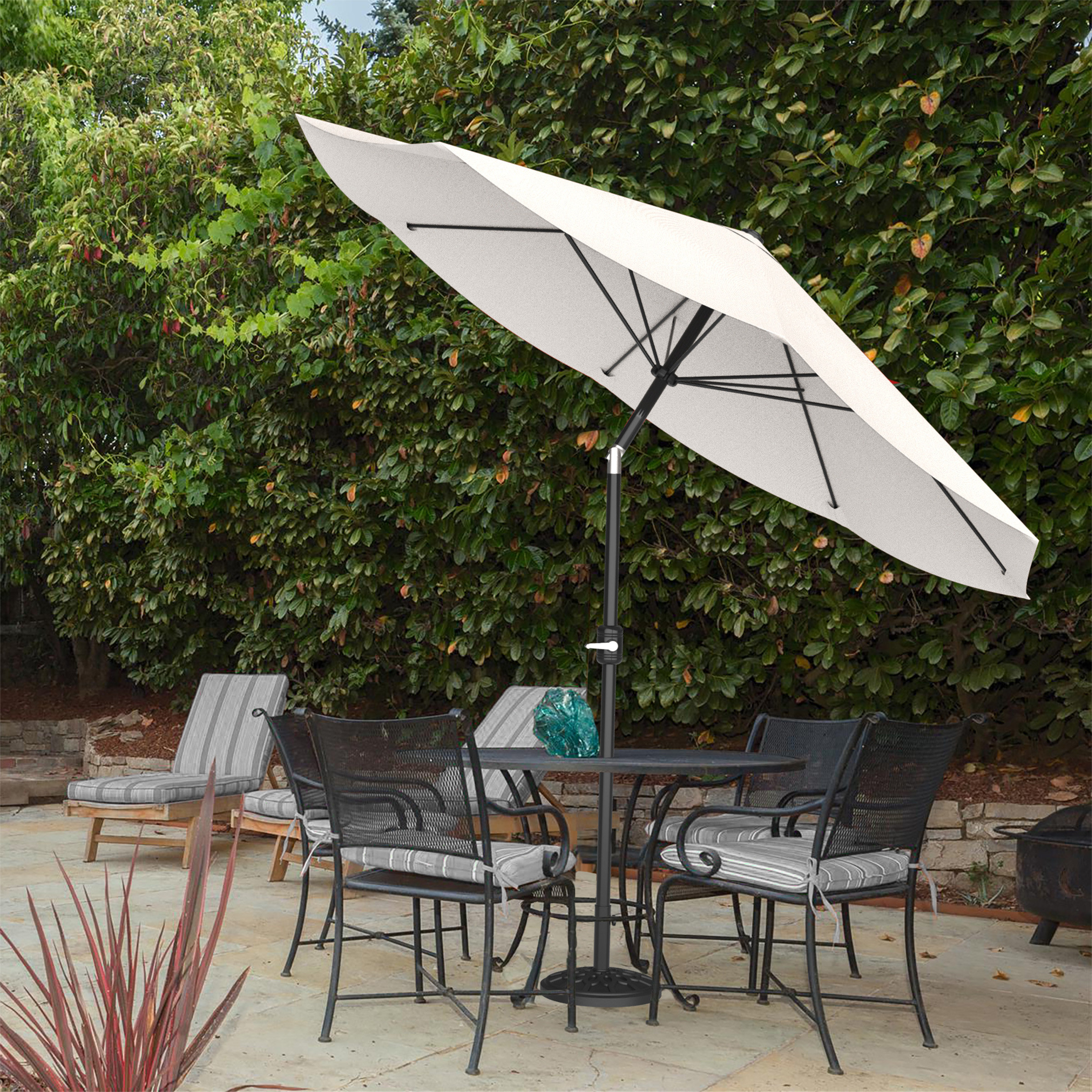 Kelton 10' Market Umbrella In Famous Woll Lighted Market Umbrellas (View 6 of 20)