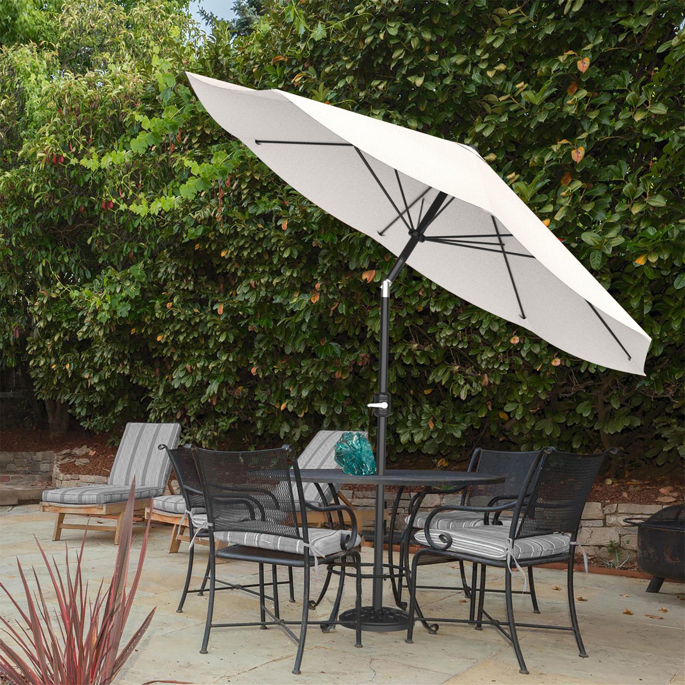Kelton 10' Market Umbrella In Famous Woll Lighted Market Umbrellas (View 12 of 20)