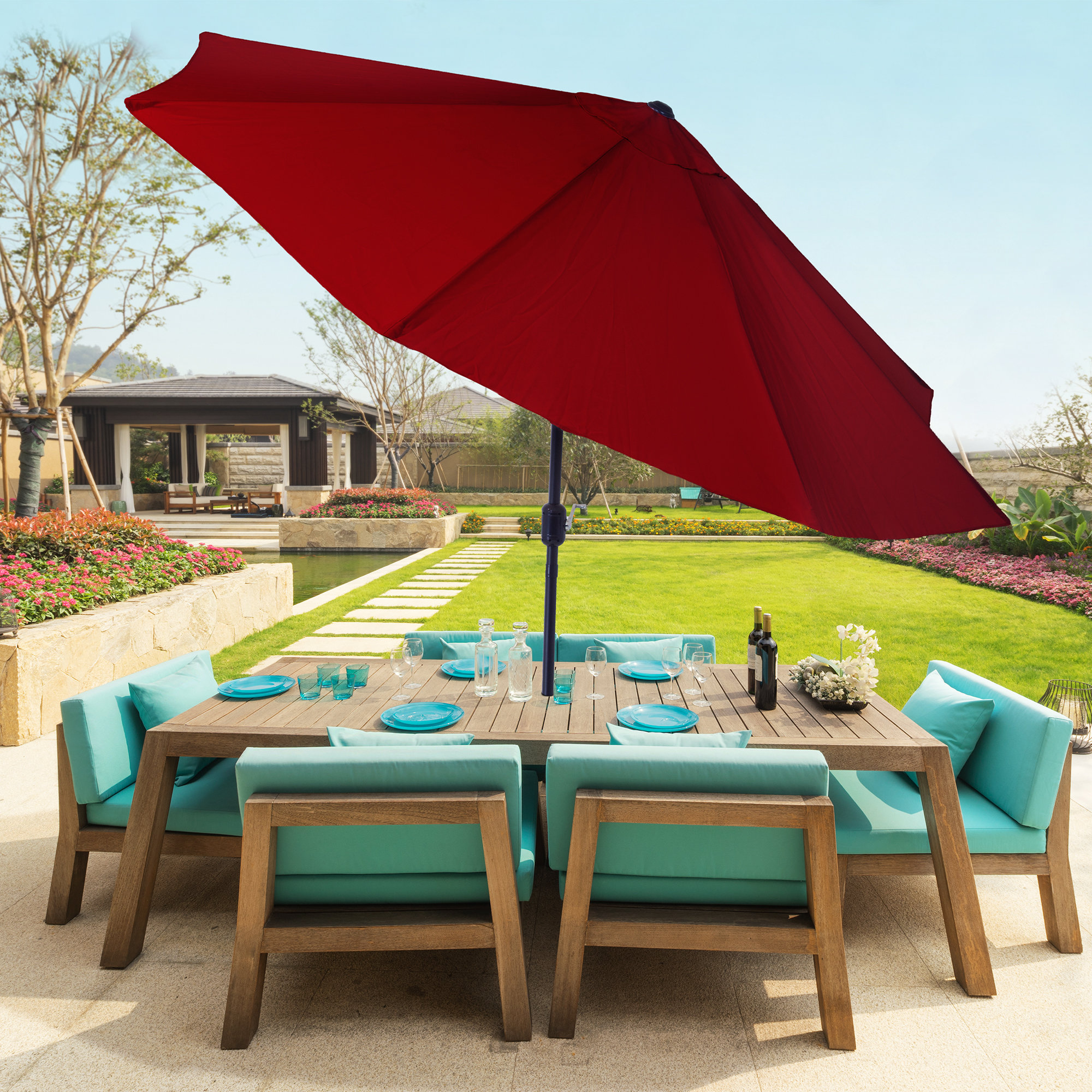 Kelton 10' Market Umbrella With Regard To 2019 Kelton Market Umbrellas (View 4 of 20)