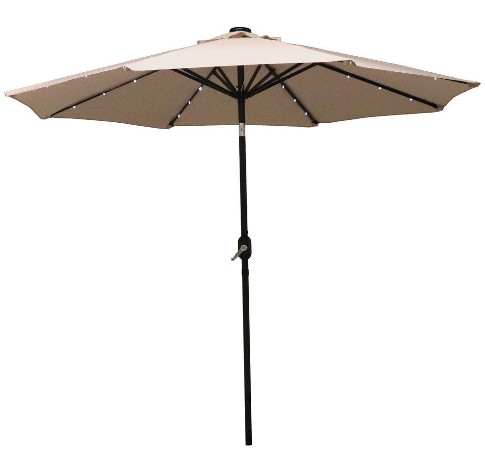 Kerner Steel Beach Umbrellas Throughout Trendy Zipcode Design Jericho 9' Market Umbrella (View 16 of 20)