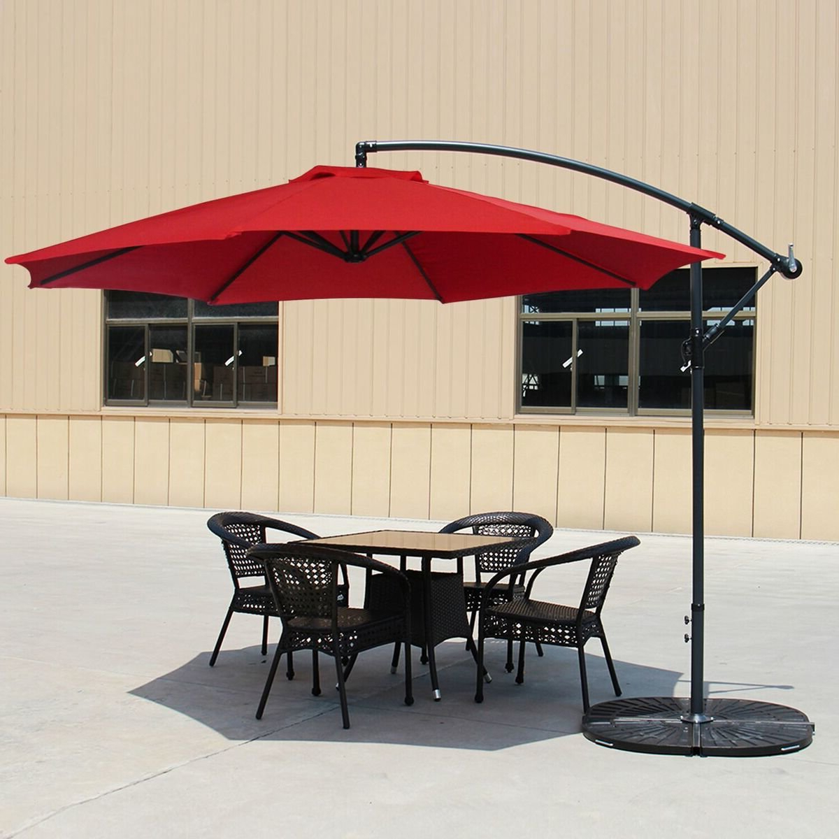 Kizzie Market Cantilever Umbrellas Intended For Trendy Carillon 10' Cantilever Umbrella (View 9 of 20)