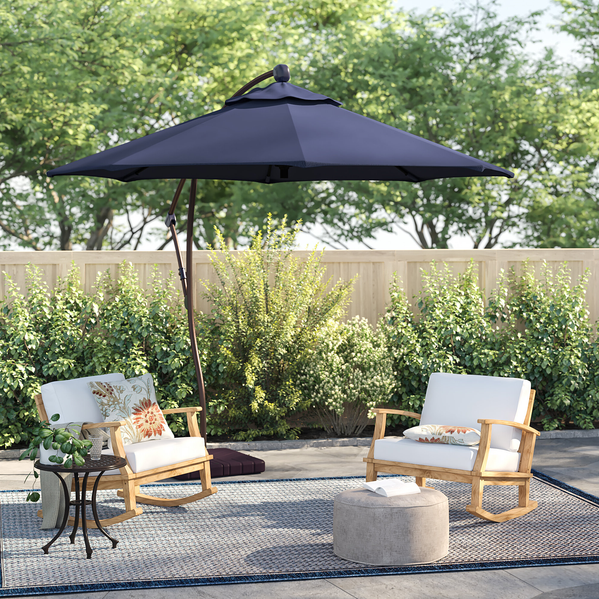 Kizzie Market Cantilever Umbrellas With Popular Capri 9' Cantilever Umbrella (Gallery 2 of 20)