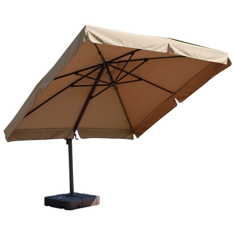 Kontiki Shade & Cooling Offset Patio Umbrellas (View 14 of 20)