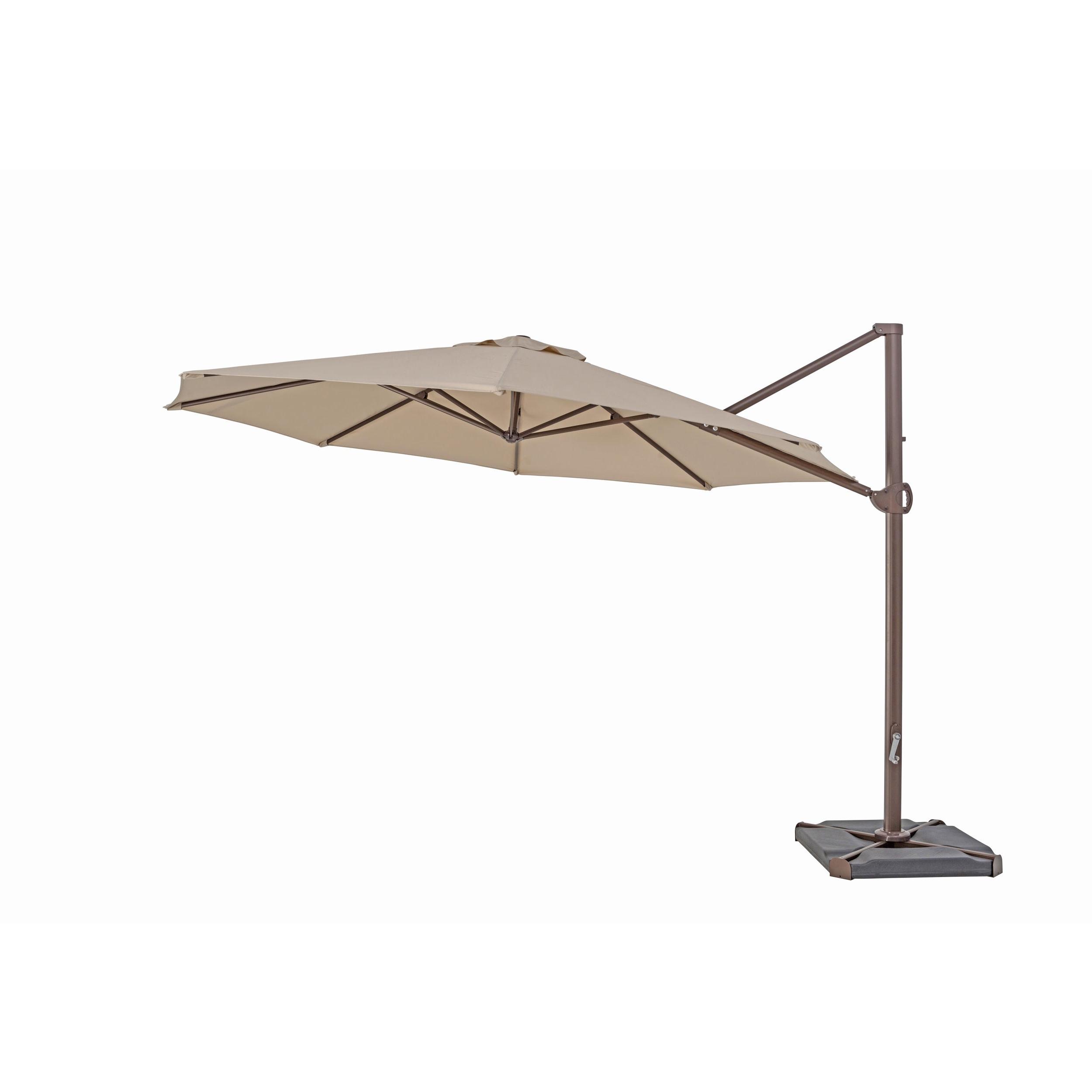 Krystal Square Cantilever Sunbrella Umbrellas For 2019 Trueshade Plus 11.5 Foot Cantilever Umbrella (Gallery 8 of 20)