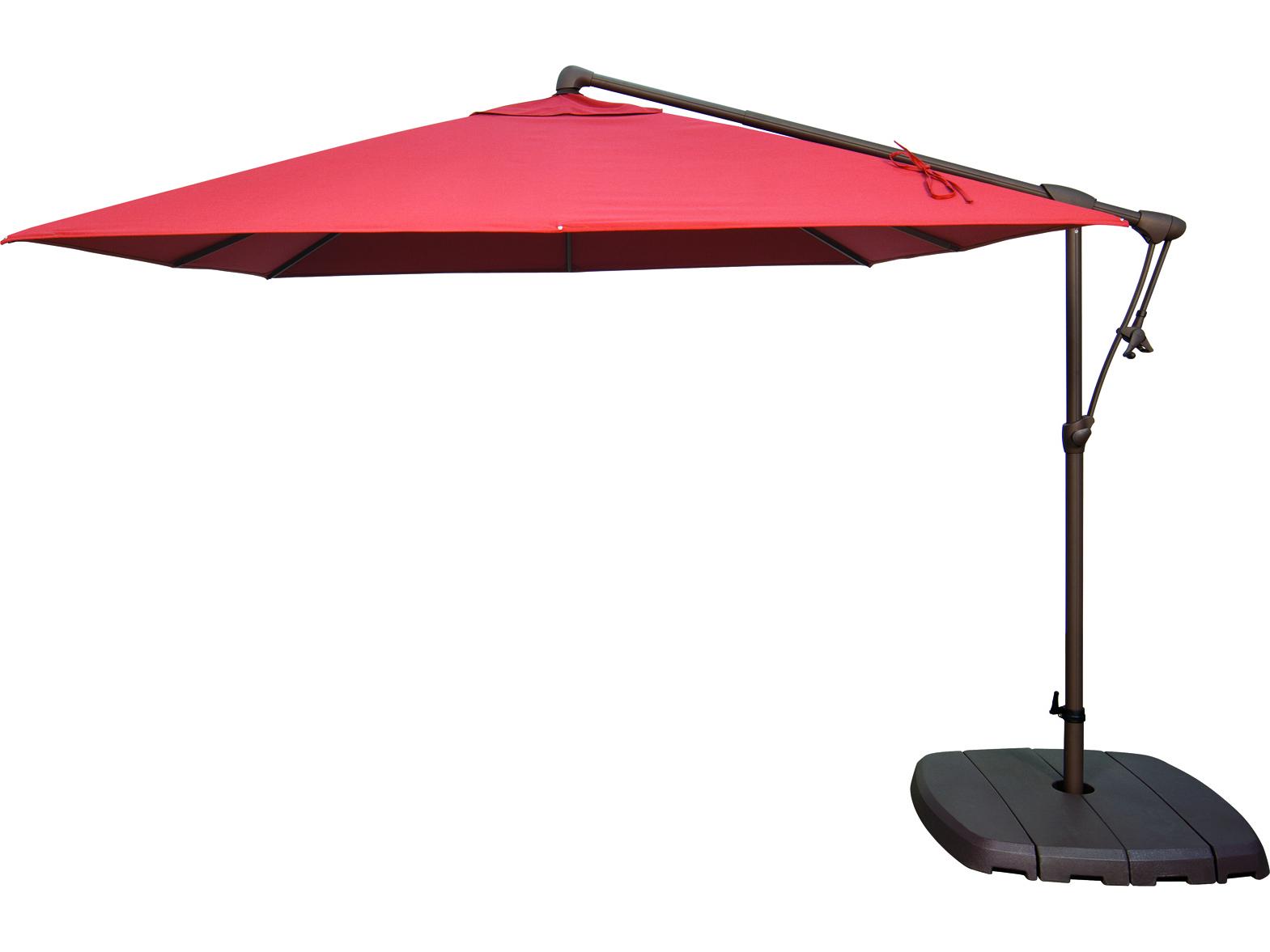 Krystal Square Cantilever Sunbrella Umbrellas For Trendy Treasure Garden Cantilever Ag19Sq Aluminum (View 9 of 20)