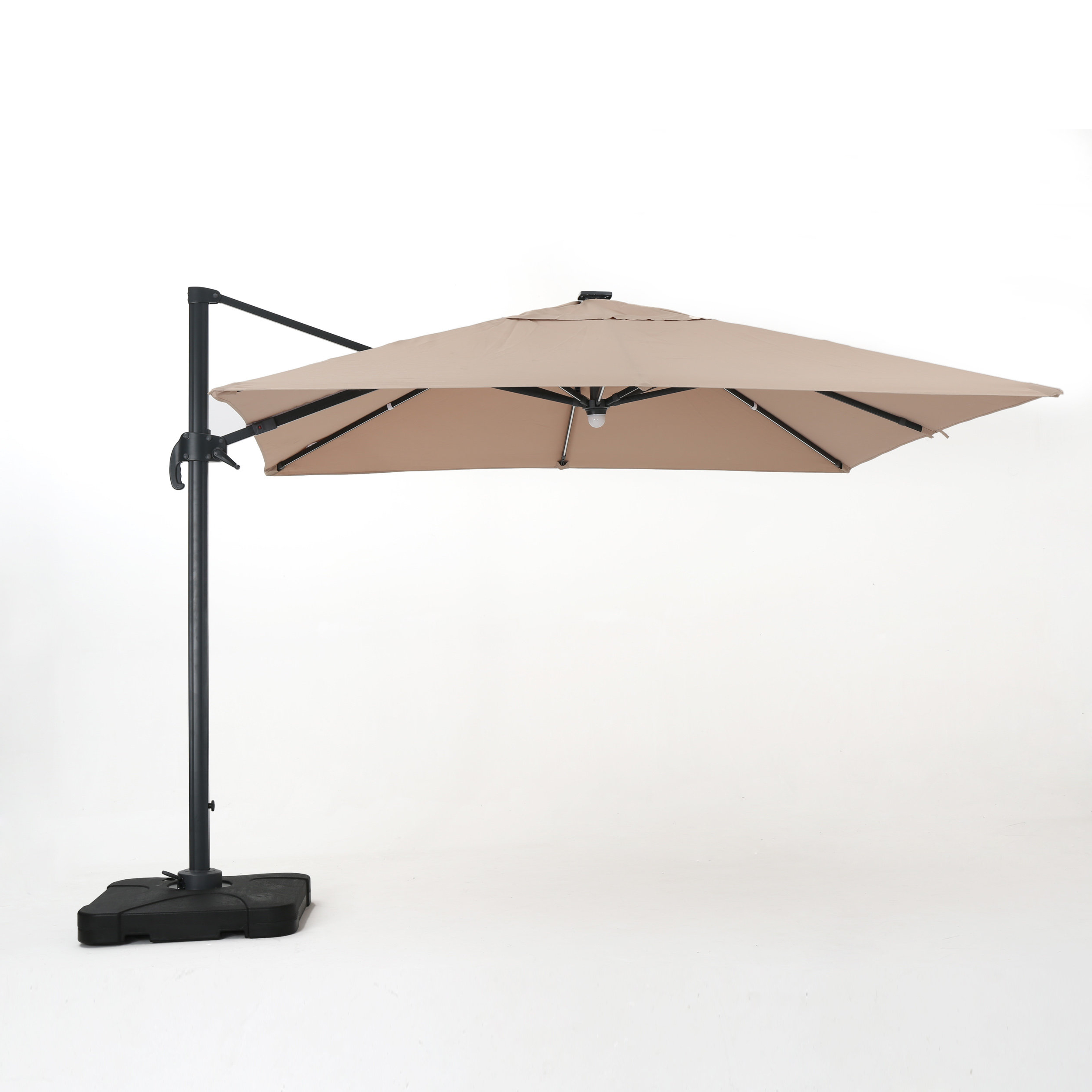 Krystal Square Cantilever Sunbrella Umbrellas Intended For Most Popular Jendayi Square Cantilever Umbrella (Gallery 1 of 20)