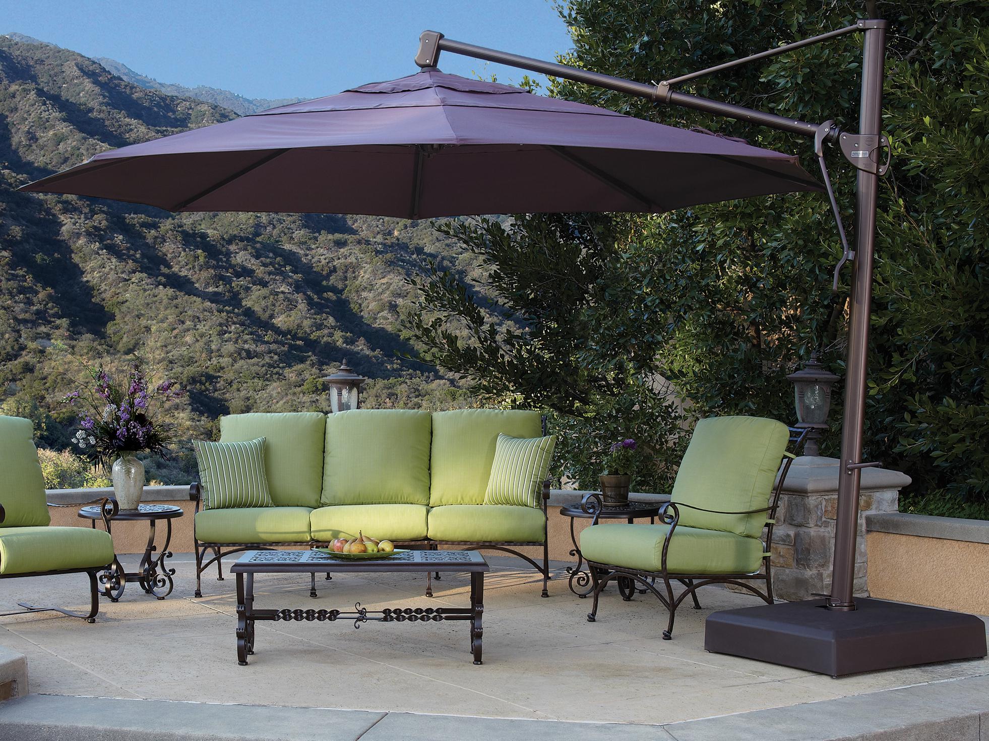 Krystal Square Cantilever Sunbrella Umbrellas Regarding Widely Used Treasure Garden Cantilever Akz13 Aluminum 13 Foot Wide Octagon (Gallery 17 of 20)
