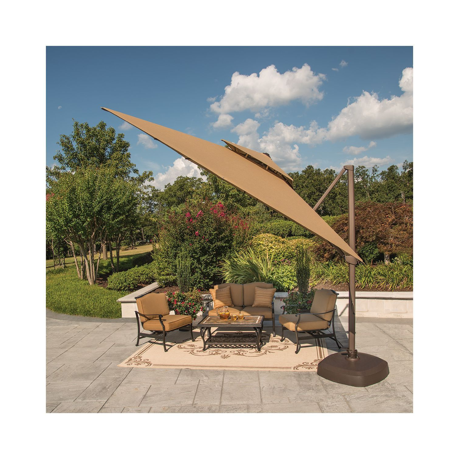Krystal Square Cantilever Sunbrella Umbrellas With Latest Member's Mark® 10 Foot Square Cantilever Umbrella With Premium (Gallery 19 of 20)