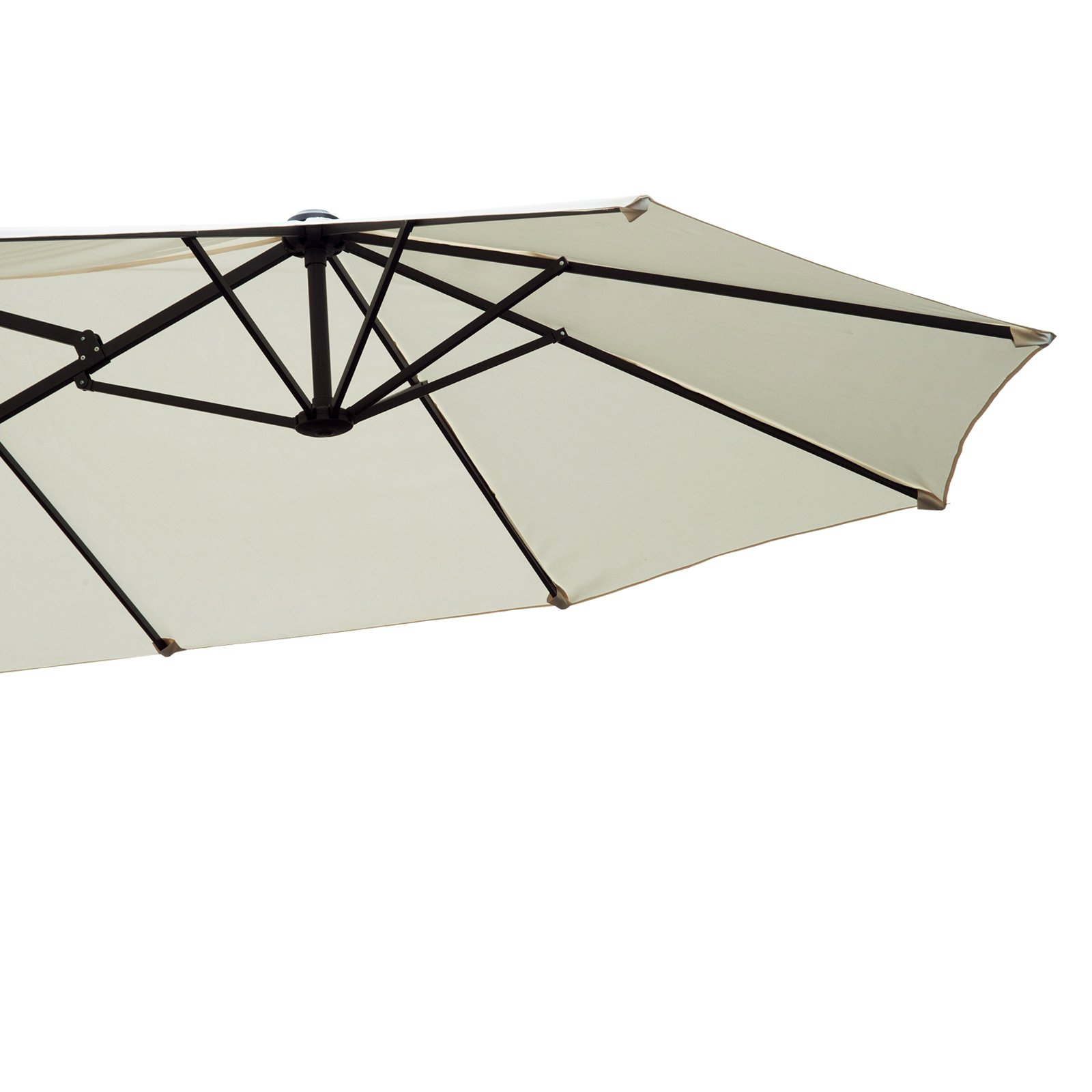 Lagasse Market Umbrellas Inside Recent Outsunny 15 Ft. Steel Double Sided Patio Umbrella (Gallery 12 of 20)