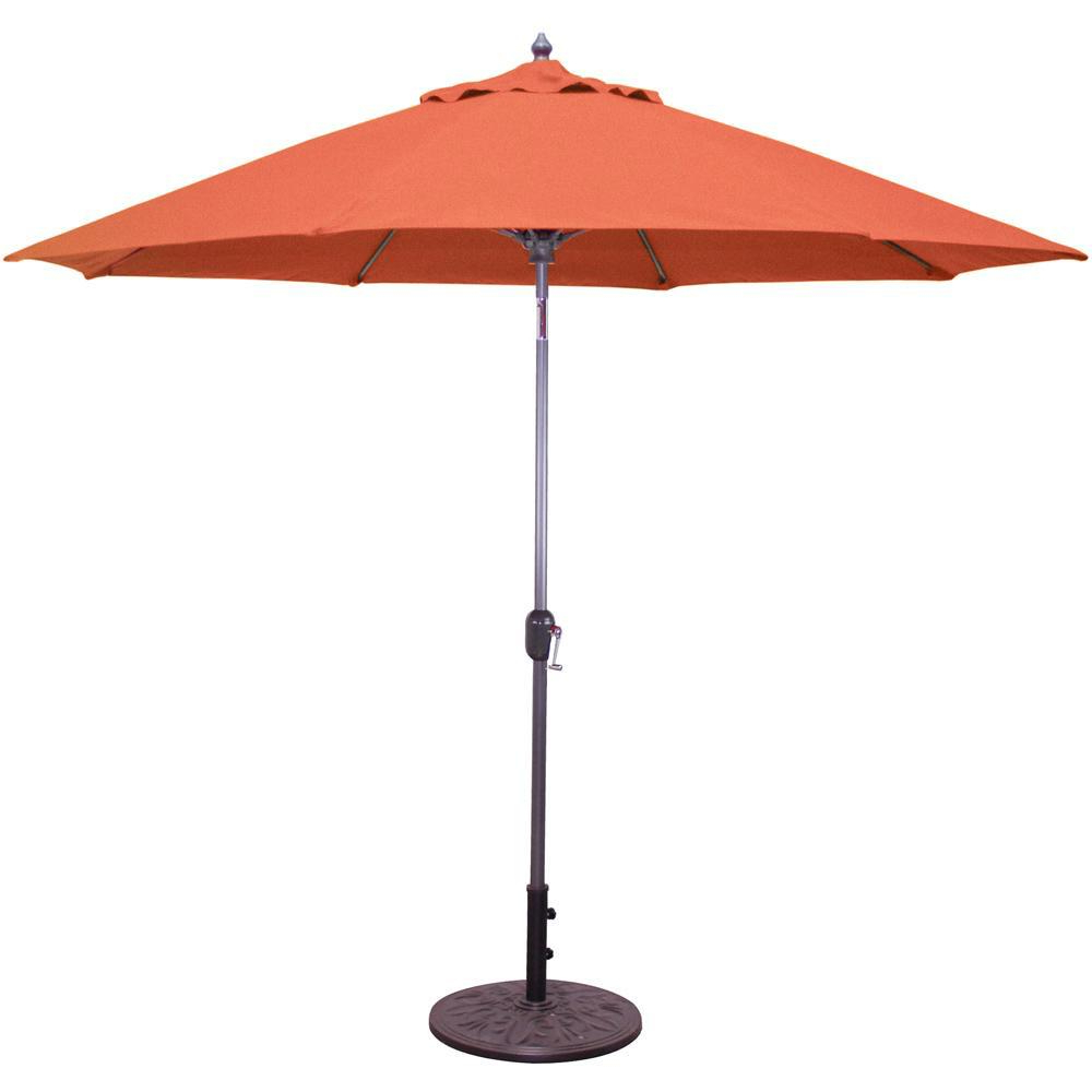 Lagasse Market Umbrellas Throughout Famous Galtech 9 Ft. Bar Height Octagonal Aluminum Patio Market Umbrella W (Gallery 18 of 20)