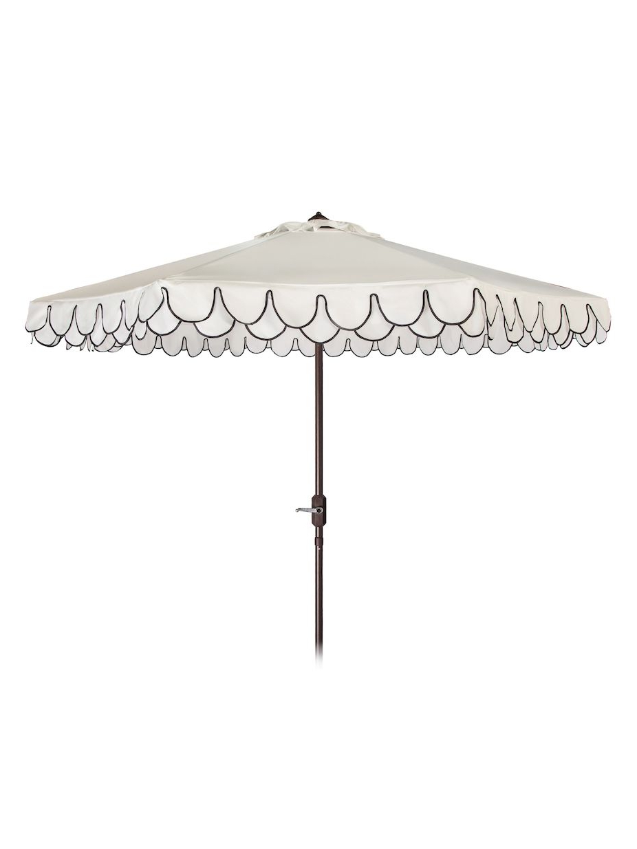 Lambeth Market Umbrellas In 2019 Safavieh 9' Elegant Valance Umbrella (View 16 of 20)