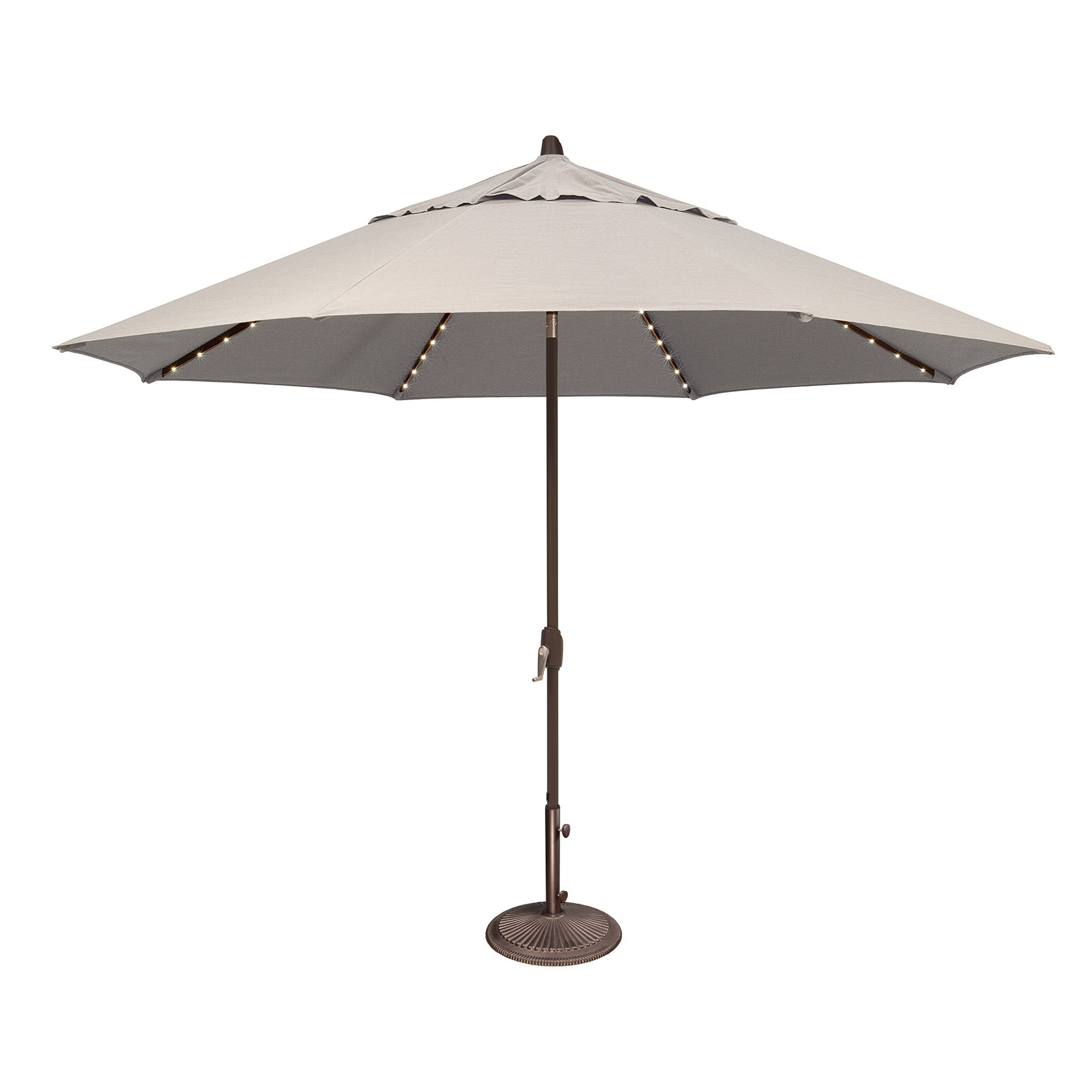 Lanai Market Umbrellas Within 2019 Lanai Pro 11' Octagon Sunbrella Market Umbrella With Star Lights (View 3 of 20)