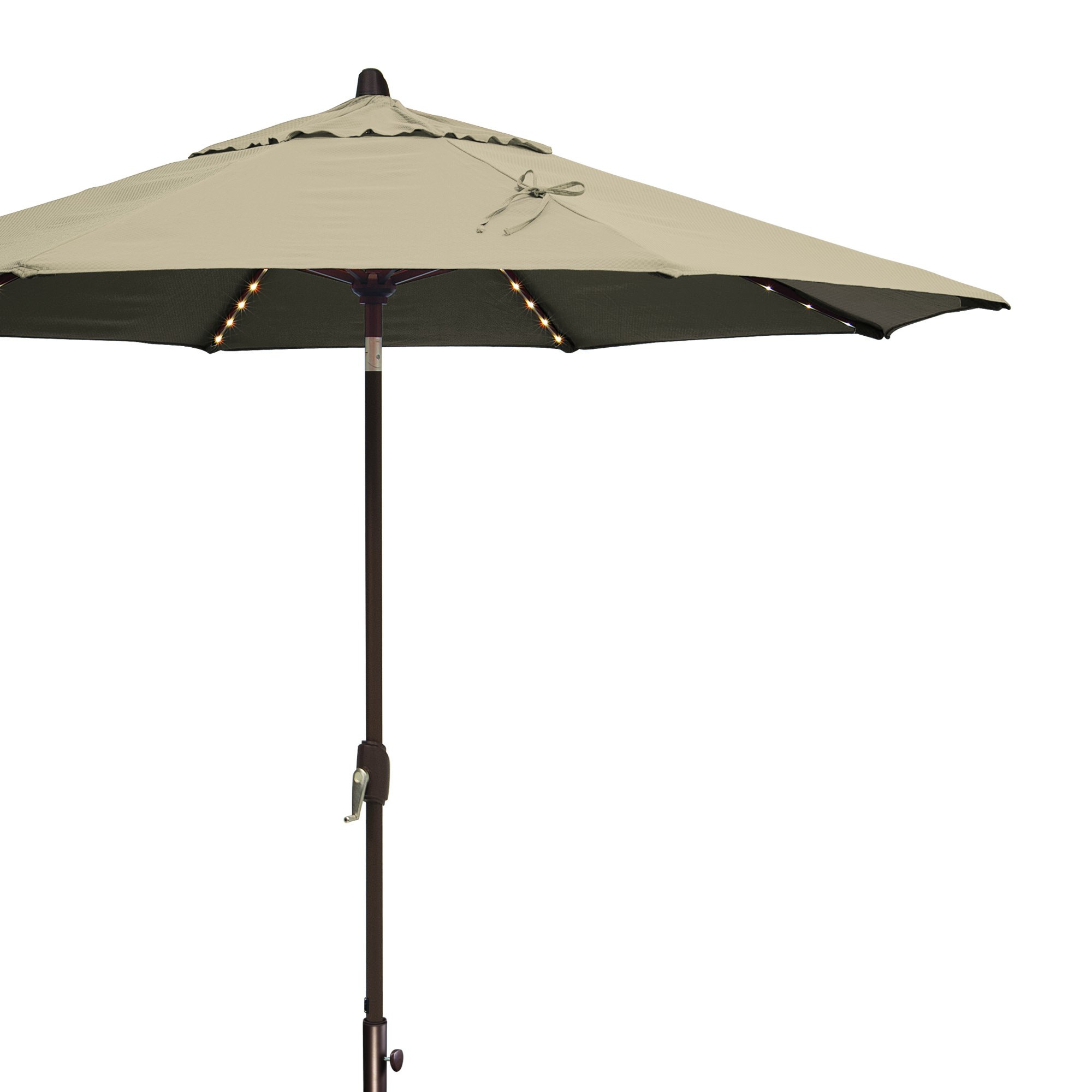 Lanai Pro 9' Octagon Market Umbrella With Star Lights – Beige Solefin Pertaining To Well Known Lanai Market Umbrellas (View 10 of 20)