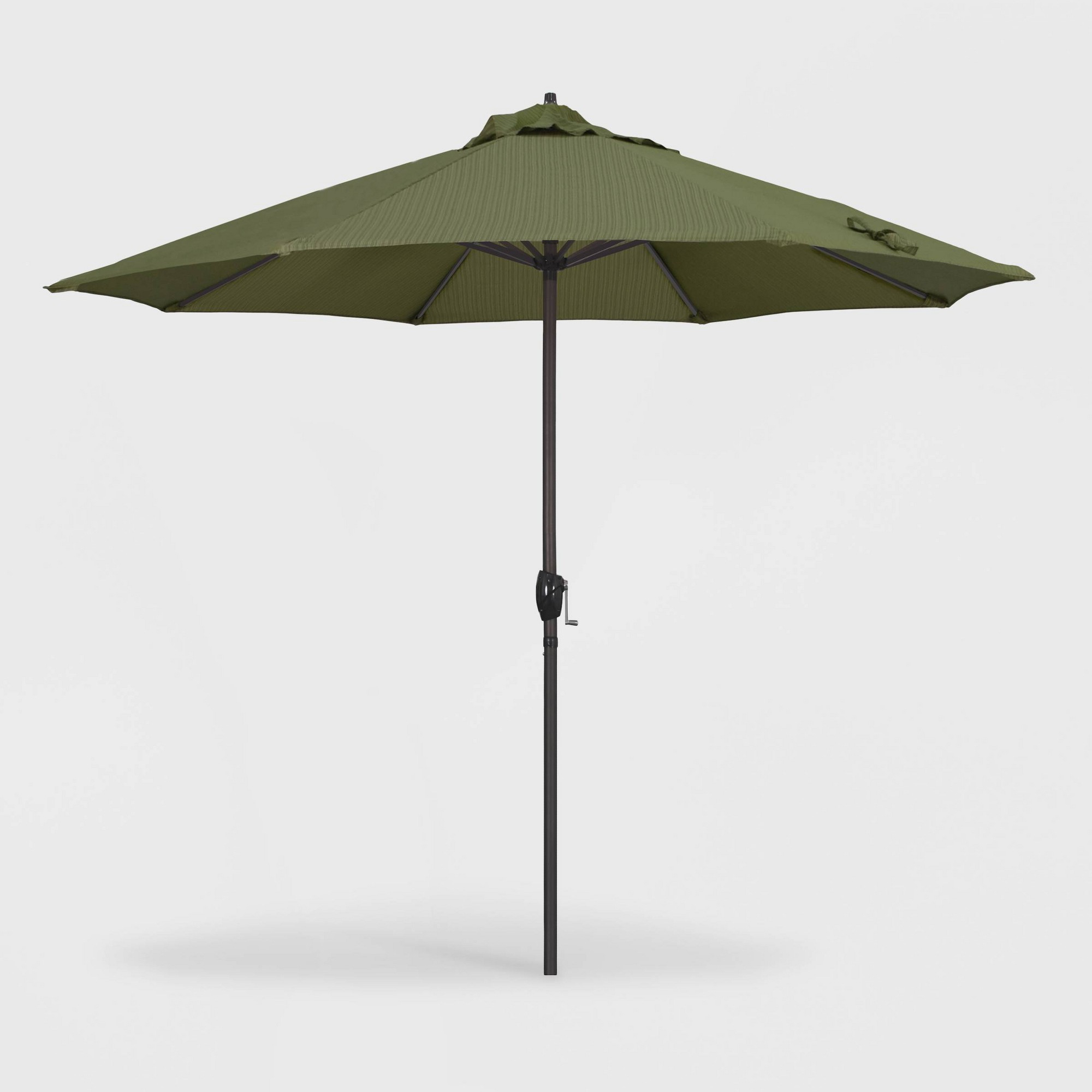 Latest 9' Casa Patio Umbrella Auto Tilt Crank Lift – Olefin Terrace Fern Throughout Crediton Market Umbrellas (View 4 of 20)