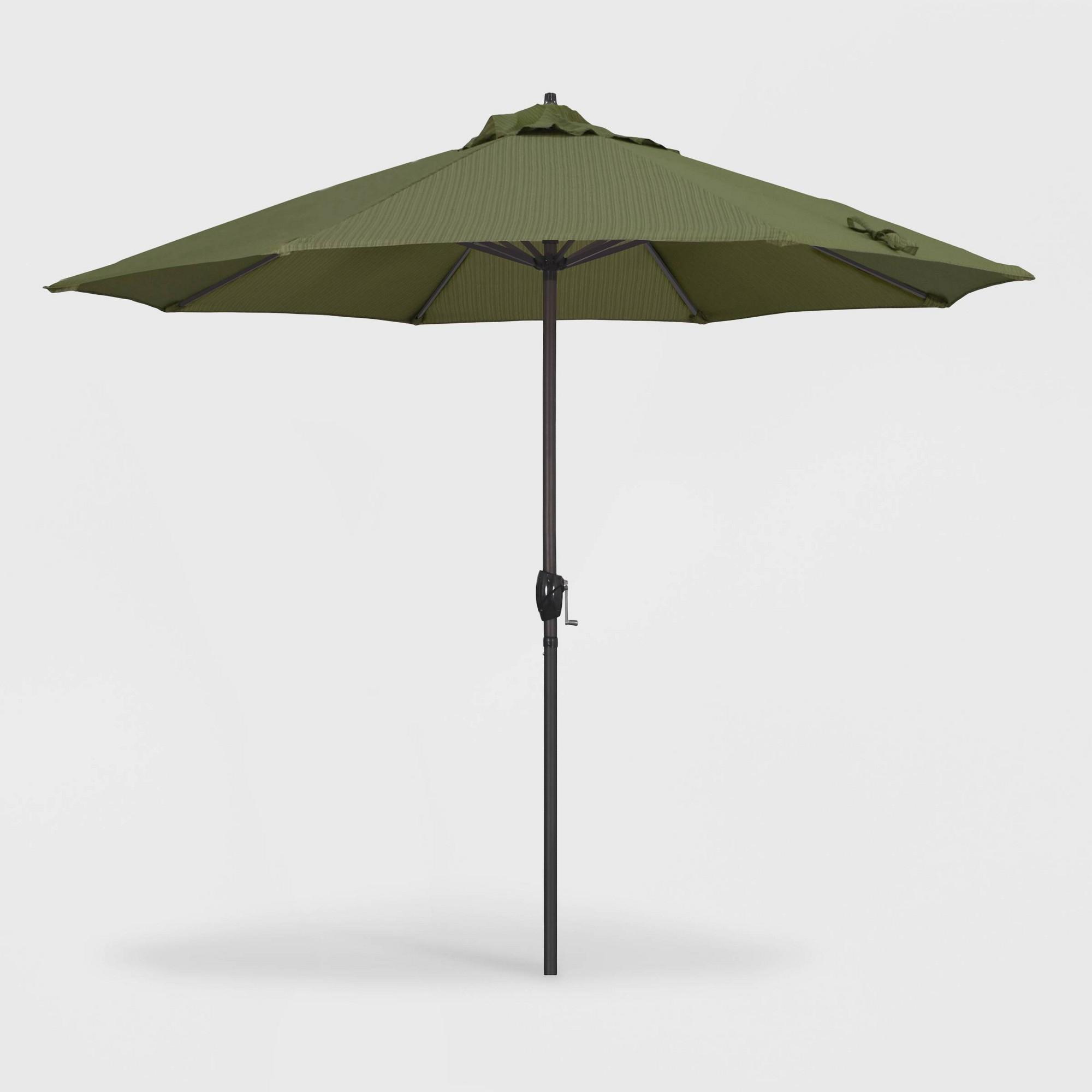 Latest 9' Casa Patio Umbrella Auto Tilt Crank Lift – Olefin Terrace Fern Throughout Crediton Market Umbrellas (View 12 of 20)