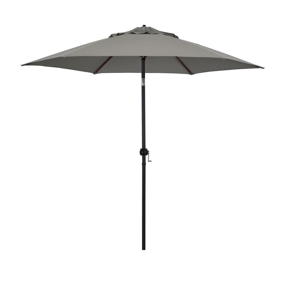 Latest Astella 9 Feet Steel Market Umbrella With Push Tilt In Polyester Taupe In Market Umbrellas (Gallery 7 of 20)