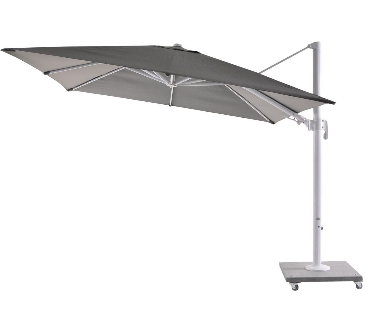 Latest Bozarth 10' Square Cantilever Umbrella Inside Jendayi Square Cantilever Umbrellas (View 15 of 20)