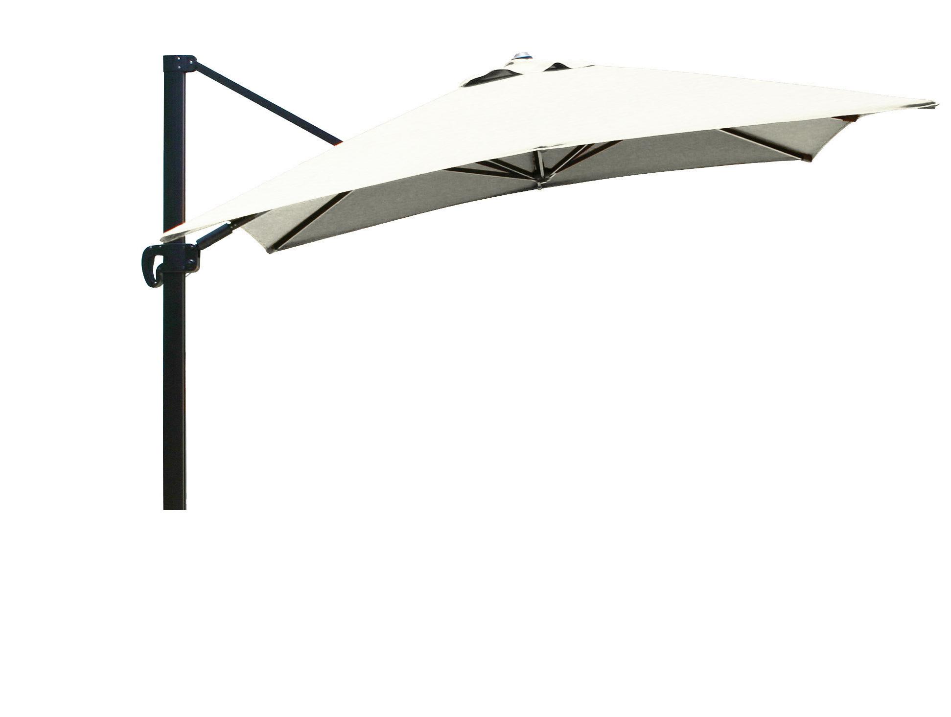 Latest Carlisle 10' Square Cantilever Sunbrella Umbrella Regarding Ketcham Cantilever Umbrellas (View 13 of 20)