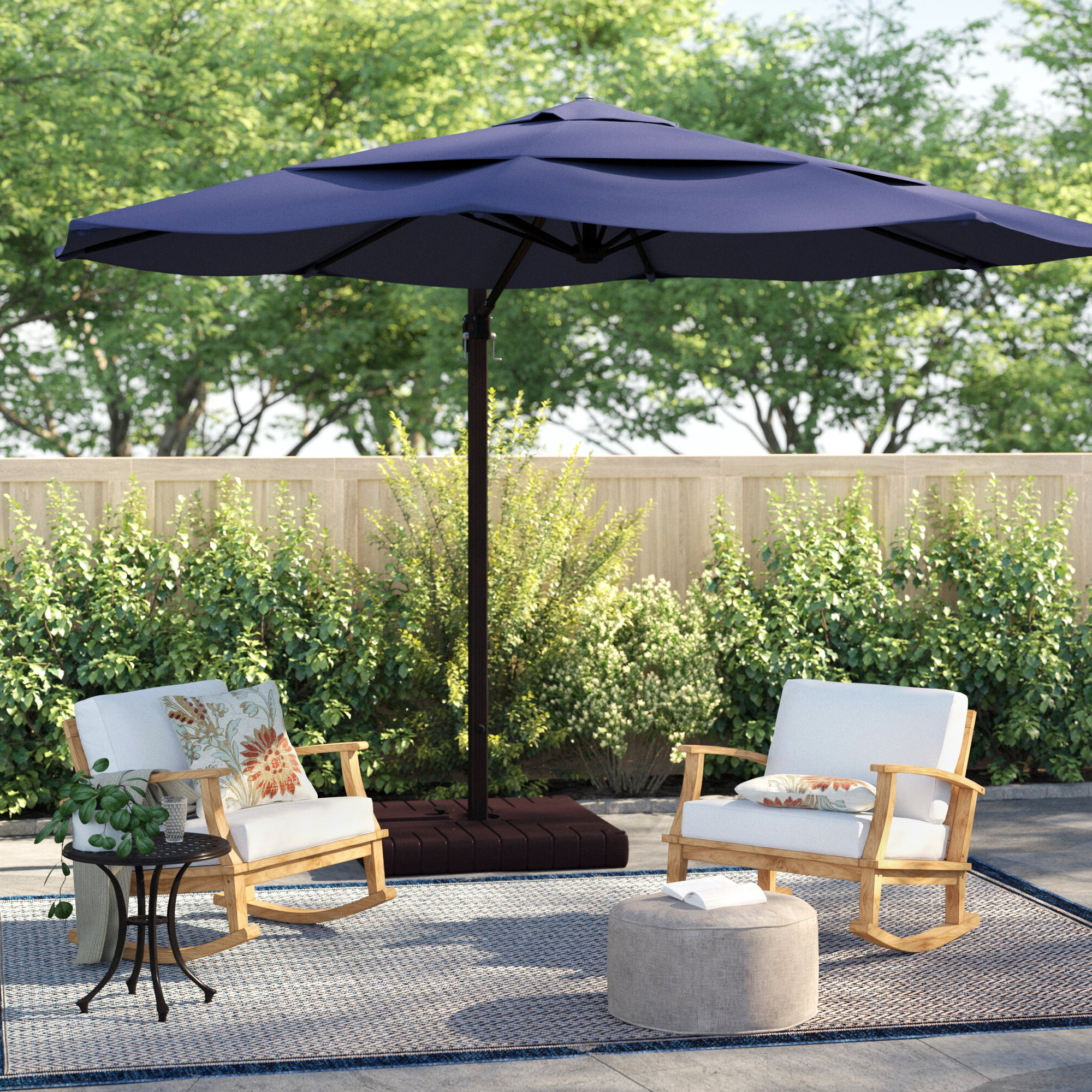 Latest Carlisle 11' Cantilever Sunbrella Umbrella Regarding Carlisle Cantilever Sunbrella Umbrellas (View 14 of 20)