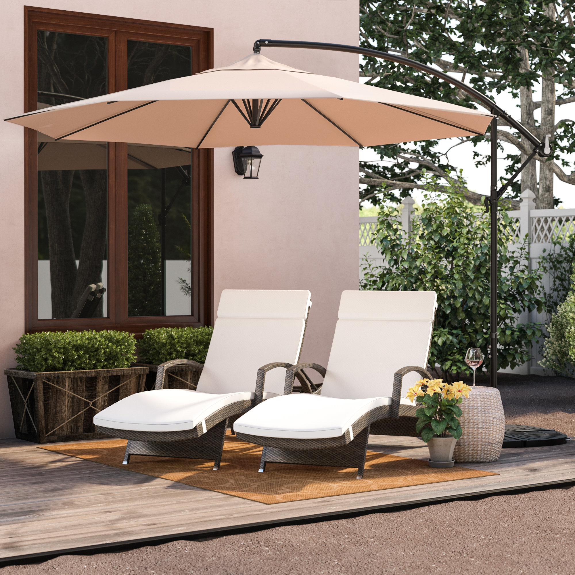 Latest Dore Patio Cantilever Umbrellas Intended For Cantillo 10' Cantilever Umbrella (View 11 of 20)