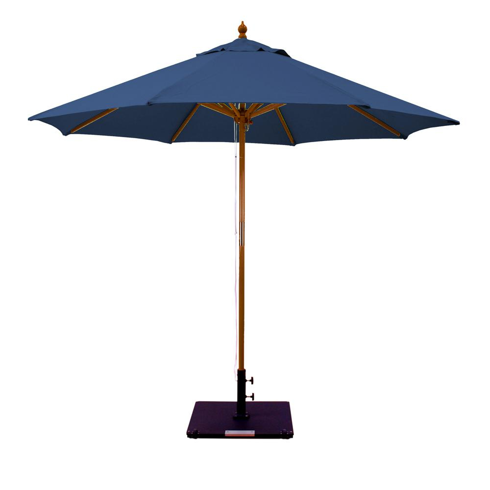 Latest Galtech 9 Ft. Octagonal Hardwood Patio Market Umbrella W/ Pulley With Jericho Market Umbrellas (Gallery 11 of 20)