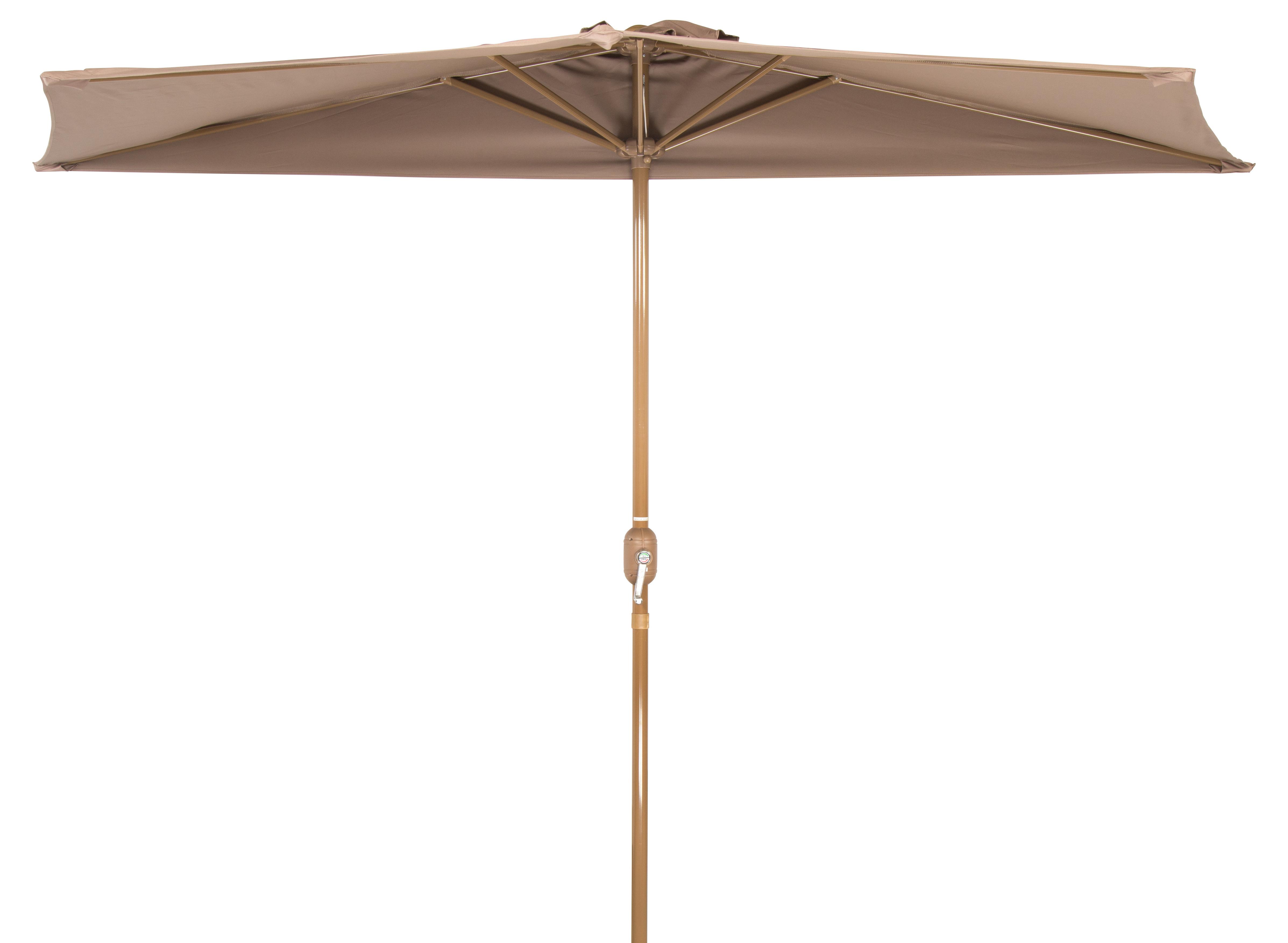 Latest Sheehan Market Umbrellas Regarding Hwang Patio Half  (View 7 of 20)