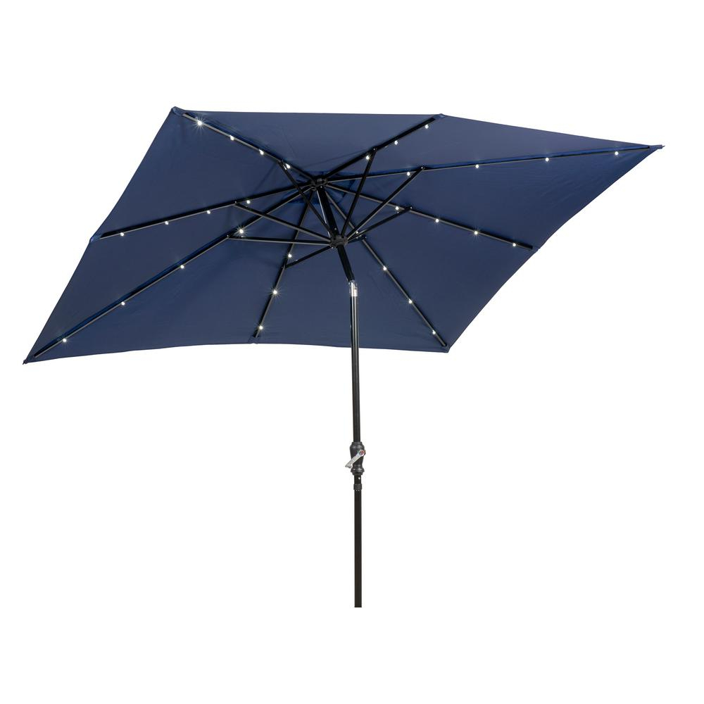 Latest Solid Rectangular Market Umbrellas For Sunray 9 Ft. X 7 Ft (View 4 of 20)