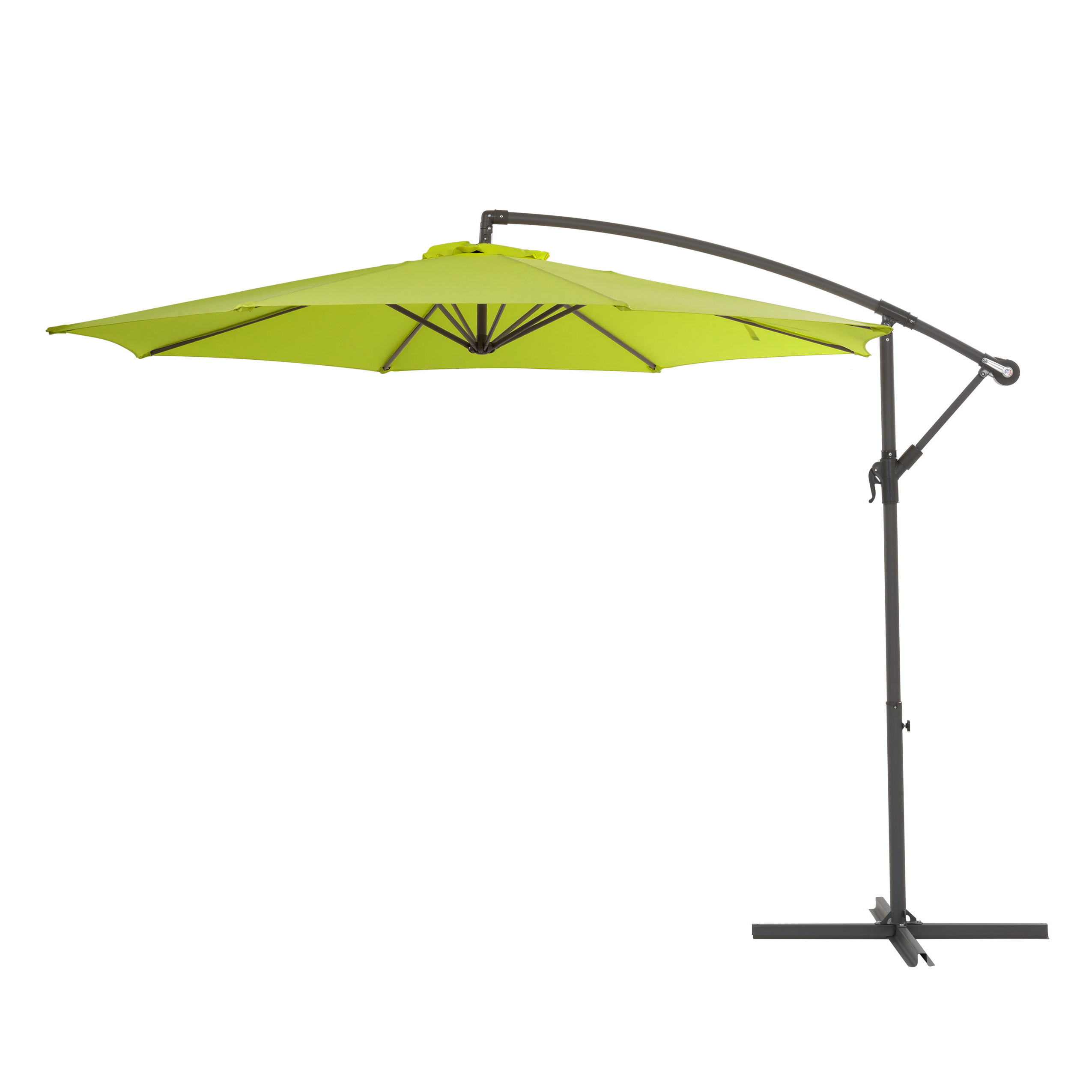 Latest Wardingham Square Cantilever Umbrellas Throughout Freda 9.5' Cantilever Umbrella (Gallery 17 of 20)