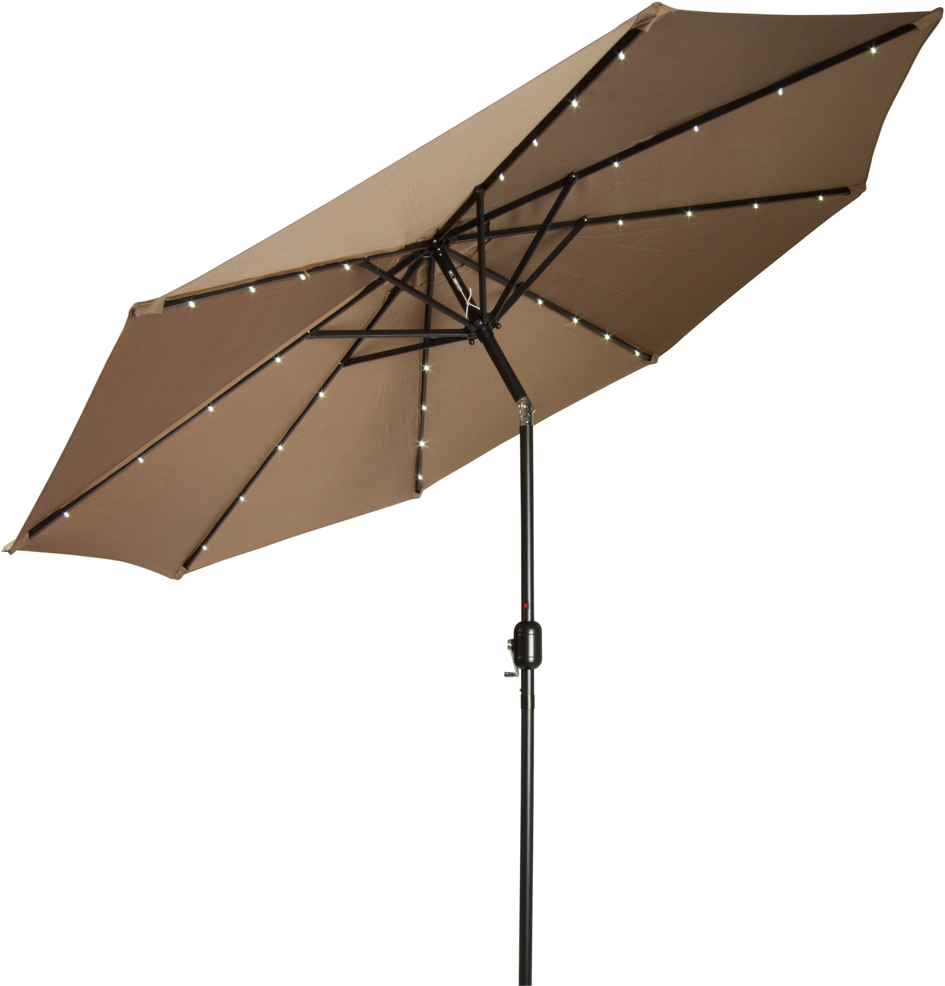 Latest Woll 9' Lighted Market Umbrella Regarding Launceston Market Umbrellas (View 3 of 20)