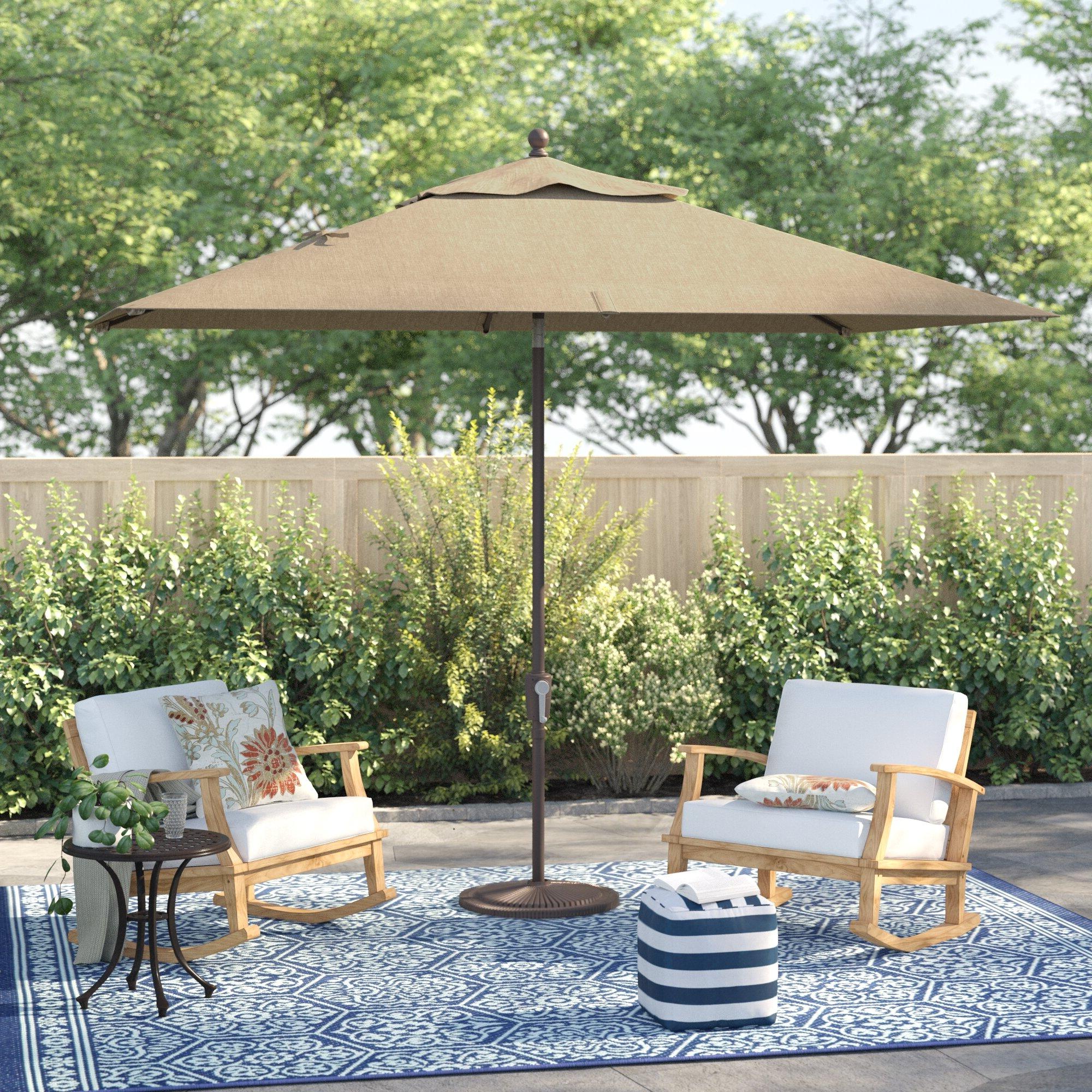 Launceston 10' X 6.5' Rectangular Market Umbrella Within Latest Bonita Rectangular Market Umbrellas (Gallery 1 of 20)
