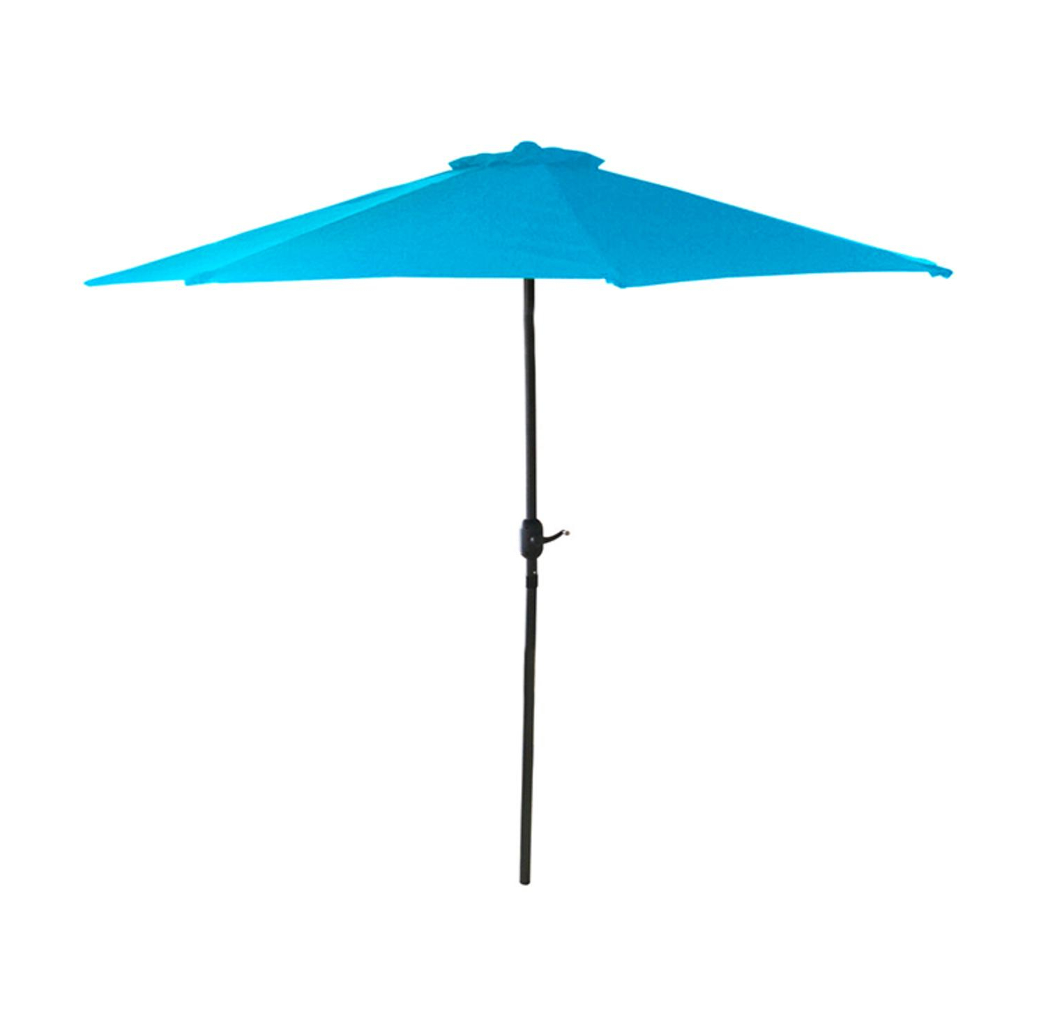 Lb International 6.5' Octagon Solid Outdoor Patio Market Umbrella With Hand Crank – Blue With Regard To Well Liked Solid Market Umbrellas (Gallery 5 of 20)