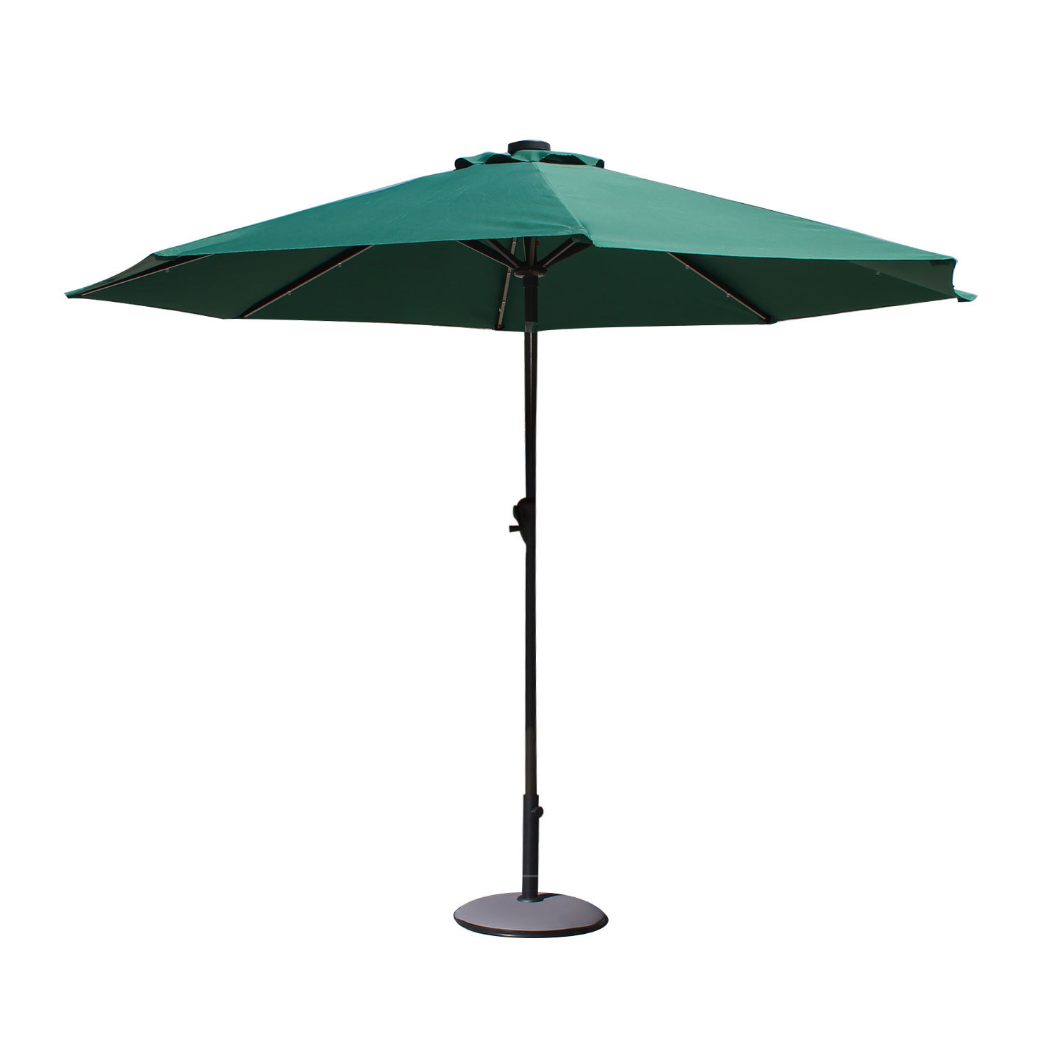 Leachville Market Umbrellas With Fashionable Trosclair 9' Lighted Umbrella (View 5 of 20)