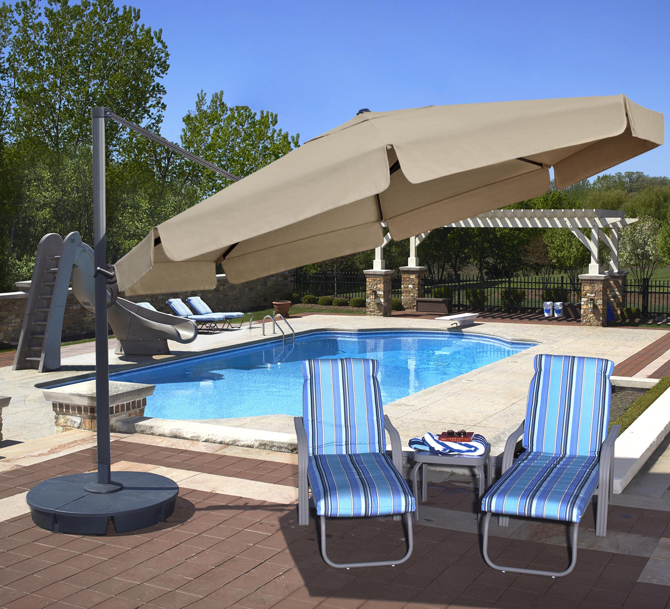 Lennie 13' Cantilever Sunbrella Umbrella Regarding Well Liked Voss Cantilever Sunbrella Umbrellas (View 9 of 20)