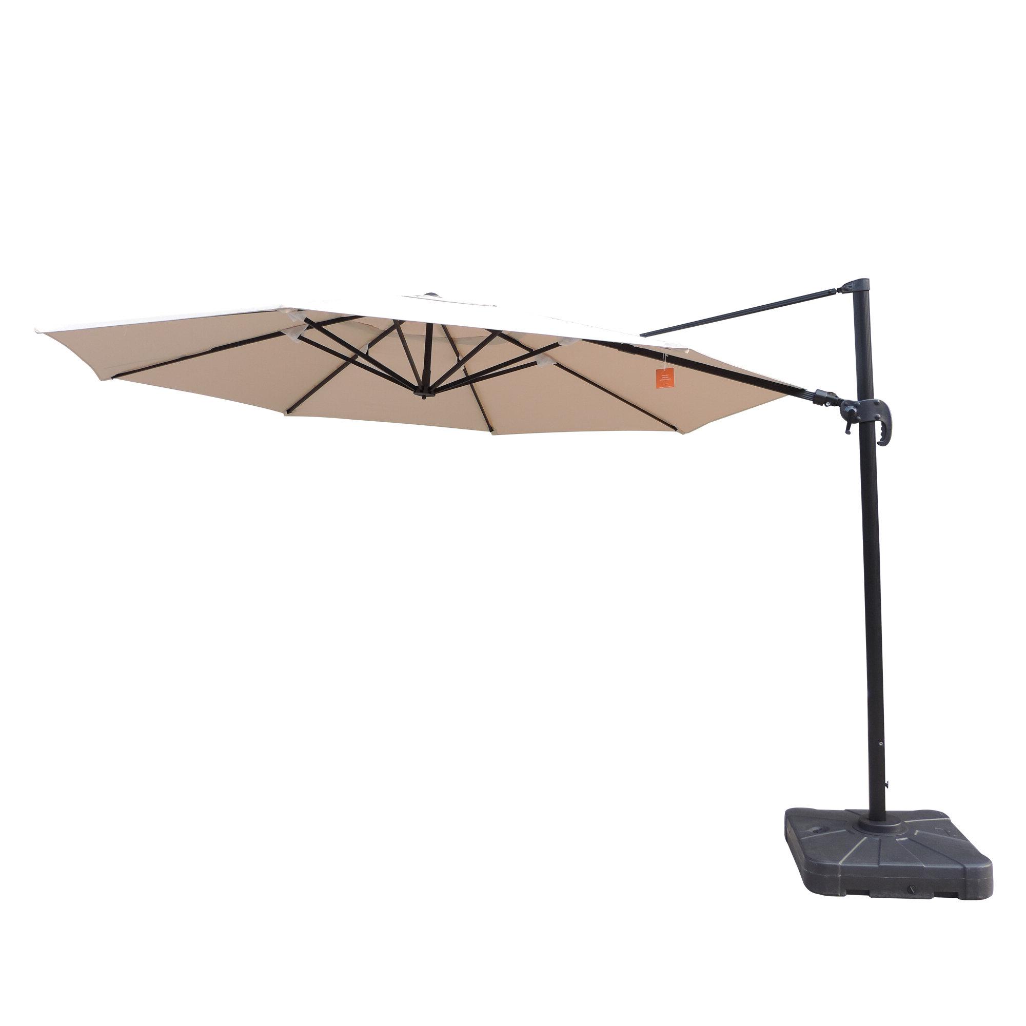 Lennie Cantilever Sunbrella Umbrellas In Popular Canora Grey Lennie 13' Cantilever Sunbrella Umbrella (View 2 of 20)