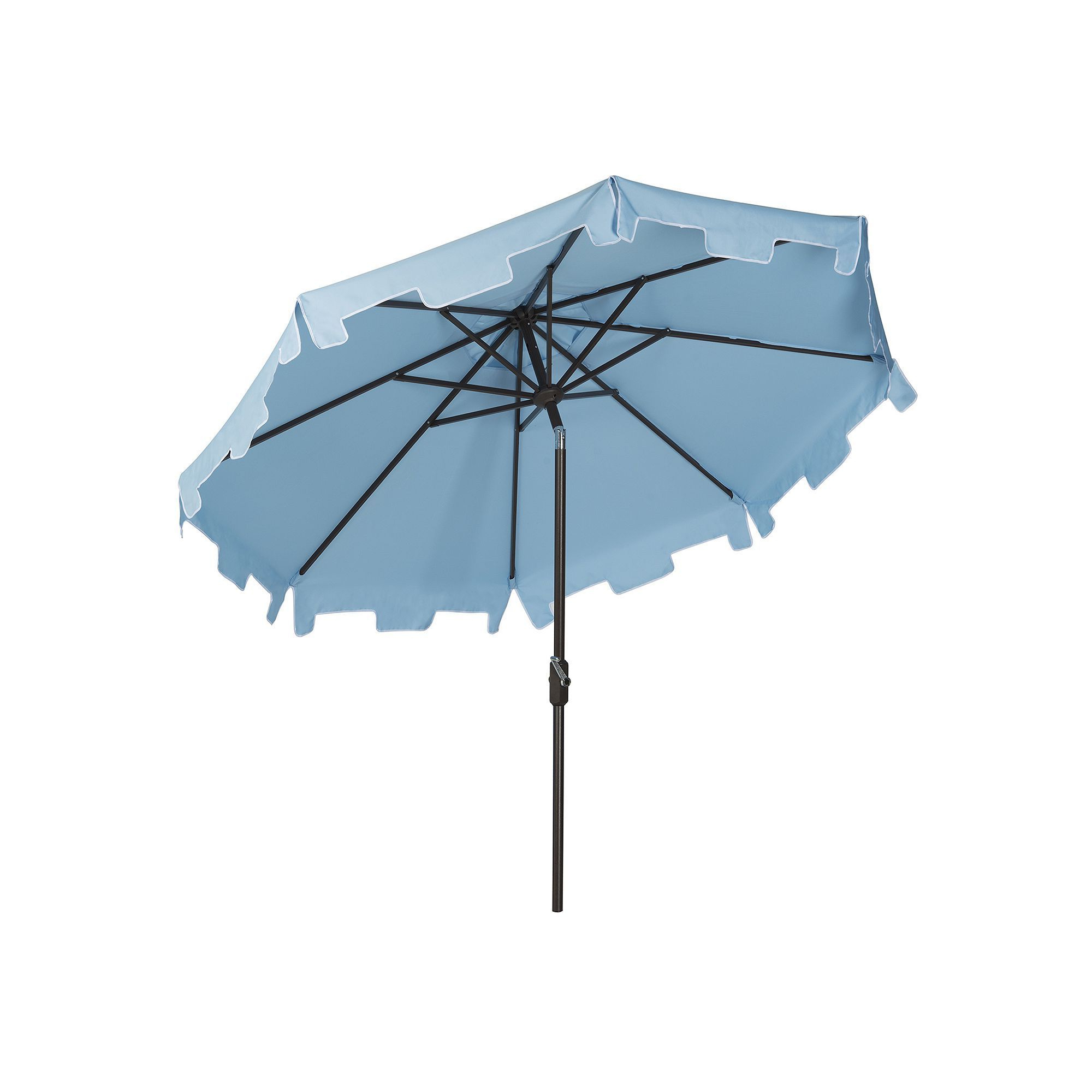 Lizarraga Market Umbrellas For Most Recently Released Safavieh Zimmerman 9 Ft (View 8 of 20)
