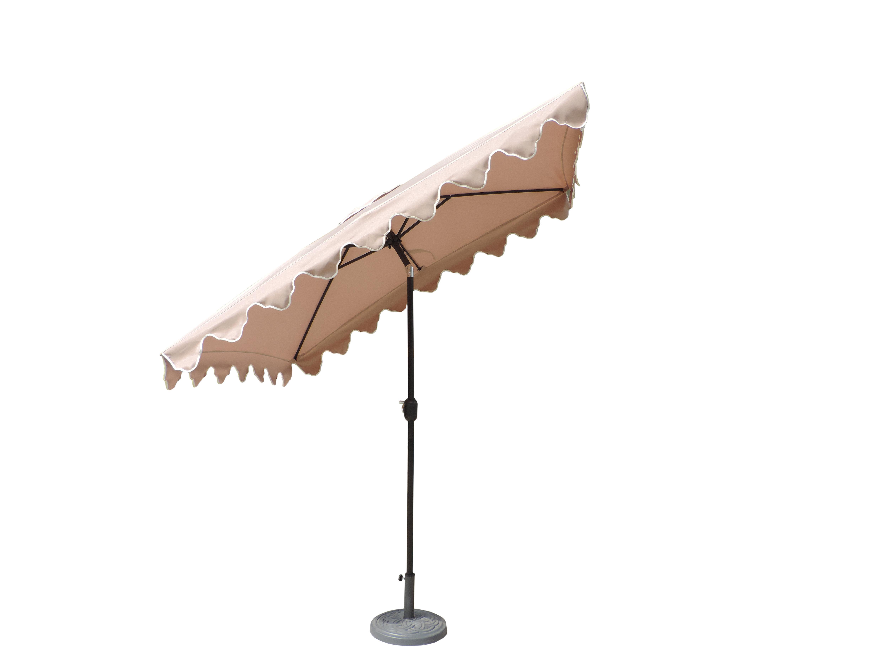 Lonoke Patio 8' X 6' Rectangular Market Umbrella Throughout Widely Used Pedrick Drape Market Umbrellas (View 7 of 20)