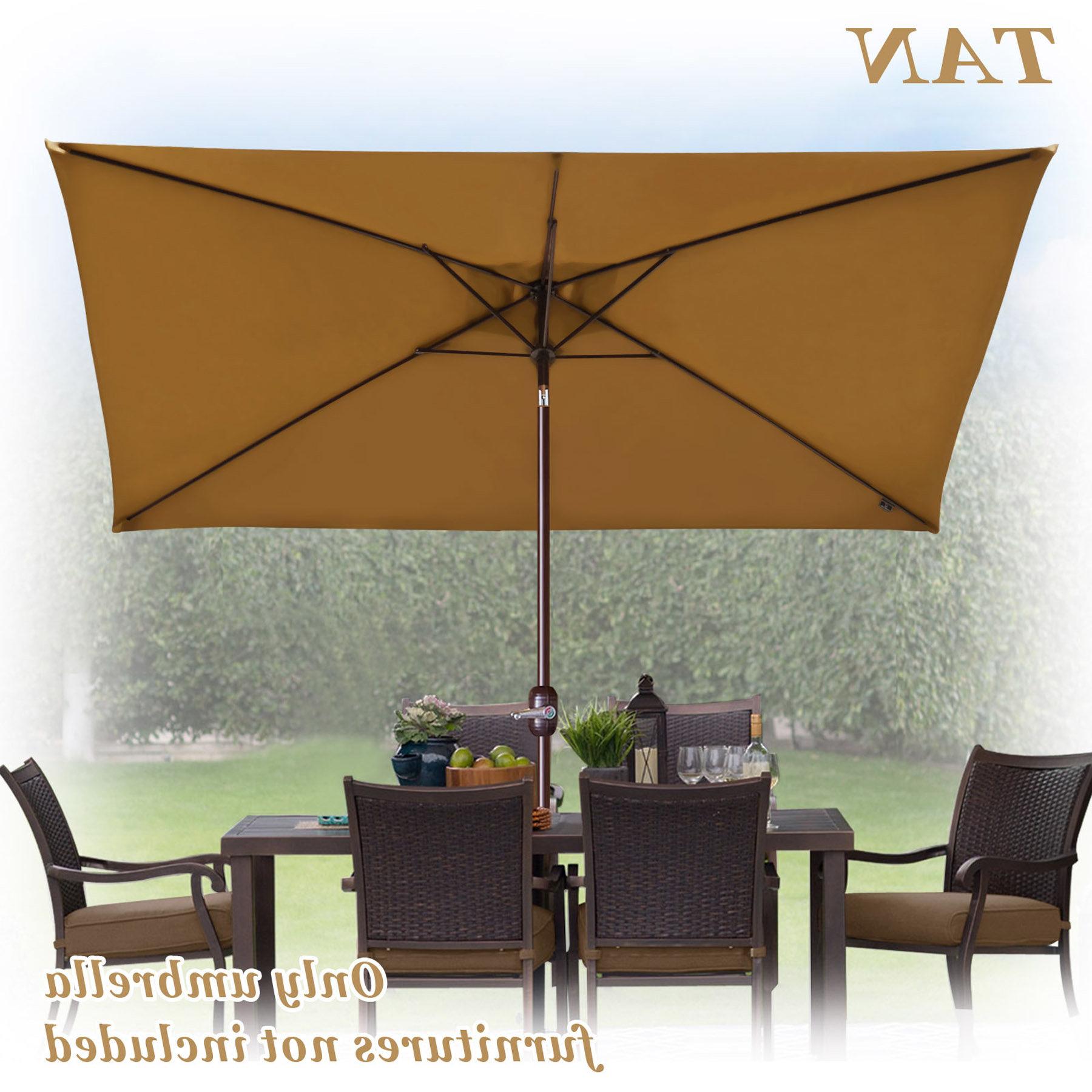 Lonoke Patio Rectangular Market Umbrellas For Well Known Bickford Outdoor Garden Patio Market Umbrella (View 6 of 20)