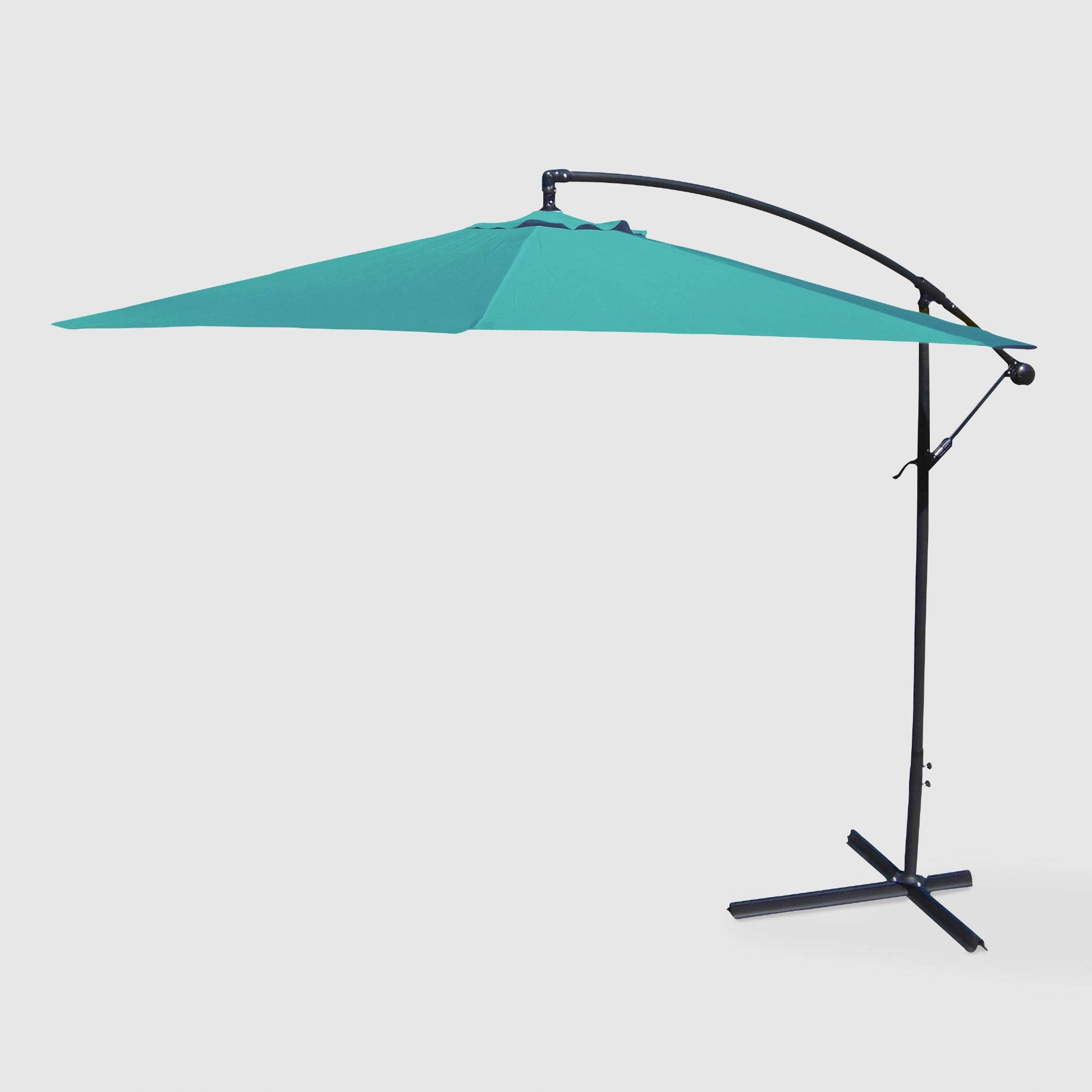 Lora Market Umbrellas In Most Recent Aruba Turquoise Cantilever Outdoor Patio Umbrella: Blue – Fabric (View 3 of 20)