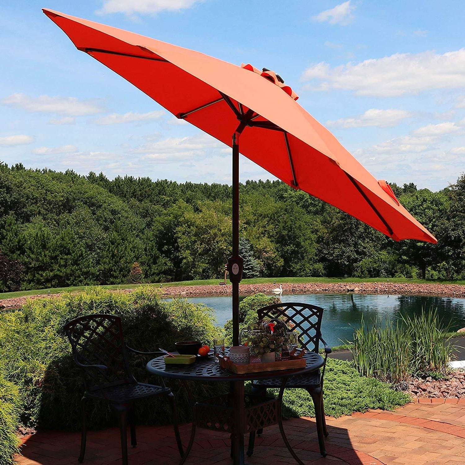 Ludie Aluminum 9' Market Umbrella Within Most Current Lonoke Patio Rectangular Market Umbrellas (Gallery 12 of 20)