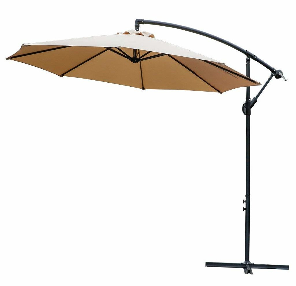 Lutie 10' Cantilever Umbrella In Trendy Yajaira Cantilever Umbrellas (View 8 of 20)