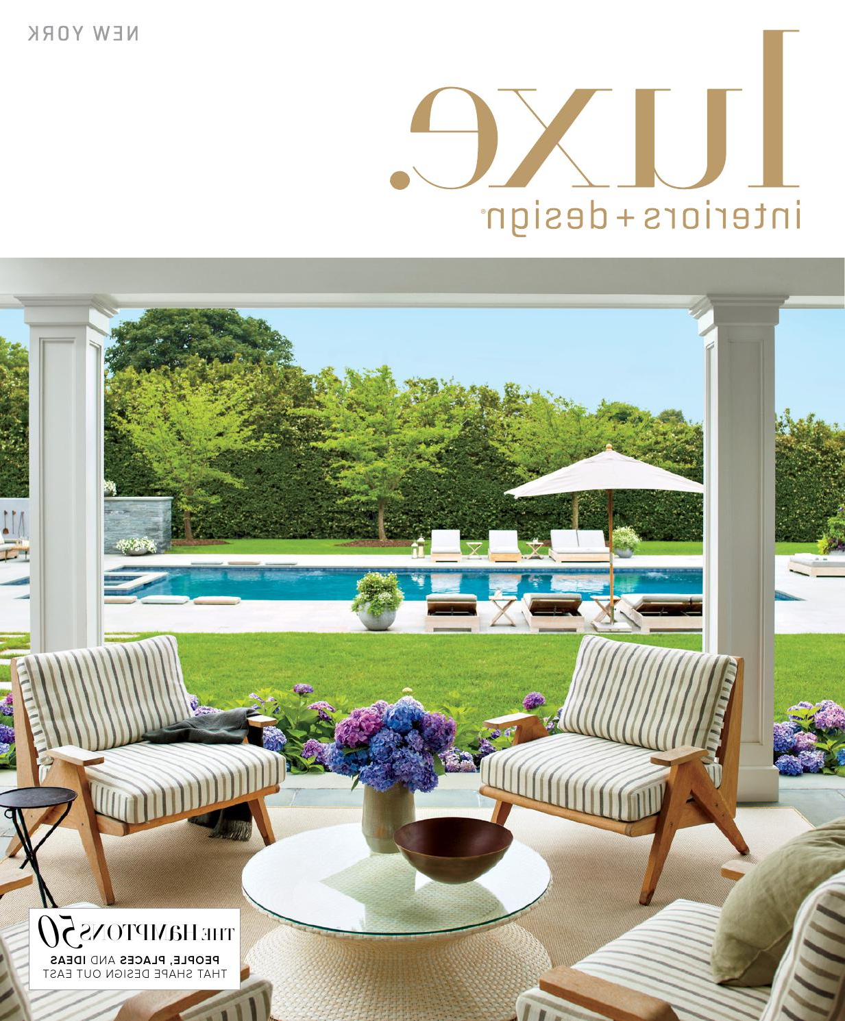 Luxe Magazine Summer 2015 New Yorksandow® – Issuu With Regard To Popular Tallulah Sunshade Hanging Outdoor Cantilever Umbrellas (View 6 of 20)