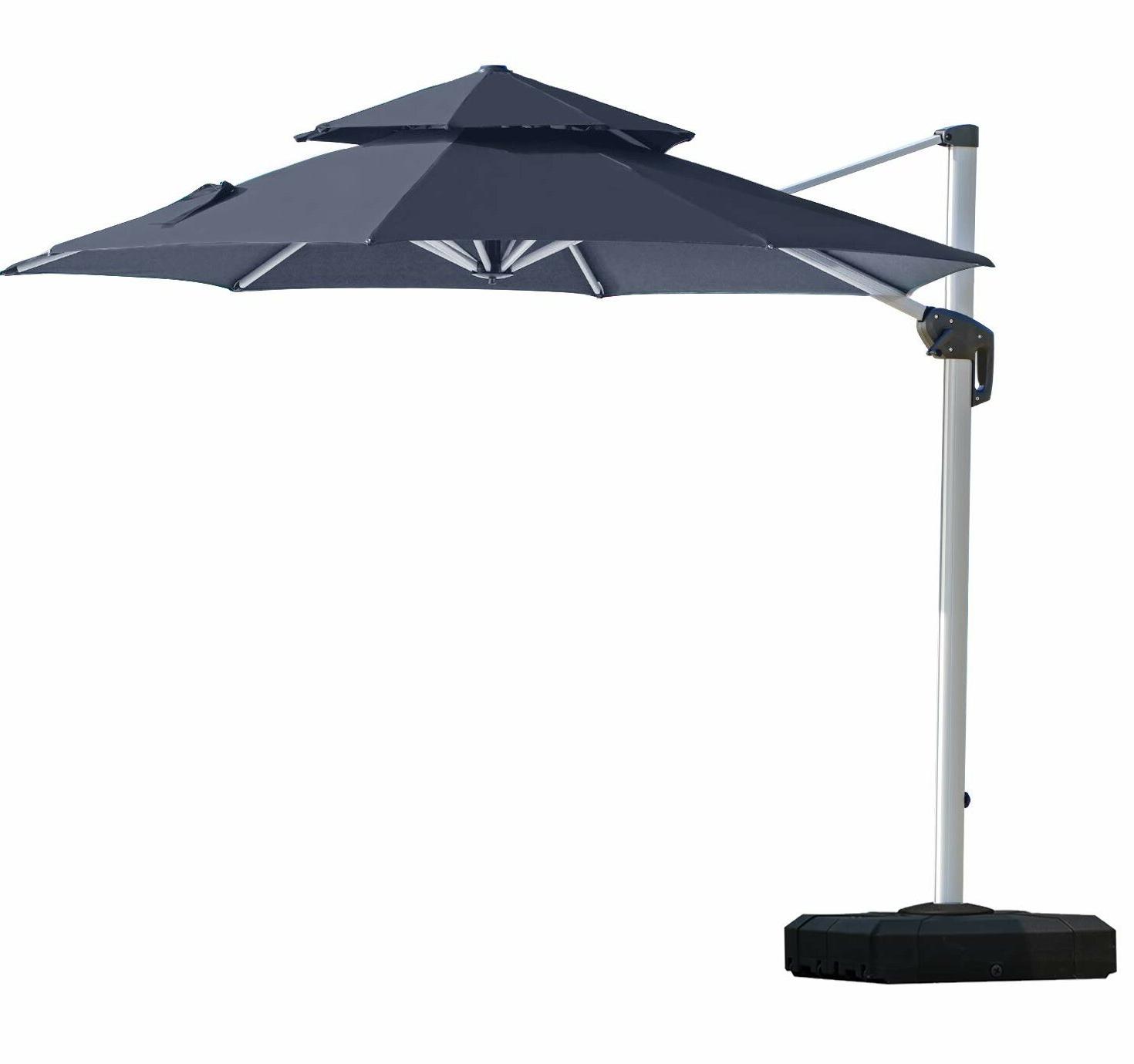 Lytham 10' Cantilever Umbrella Pertaining To Popular Voss Cantilever Sunbrella Umbrellas (View 10 of 20)