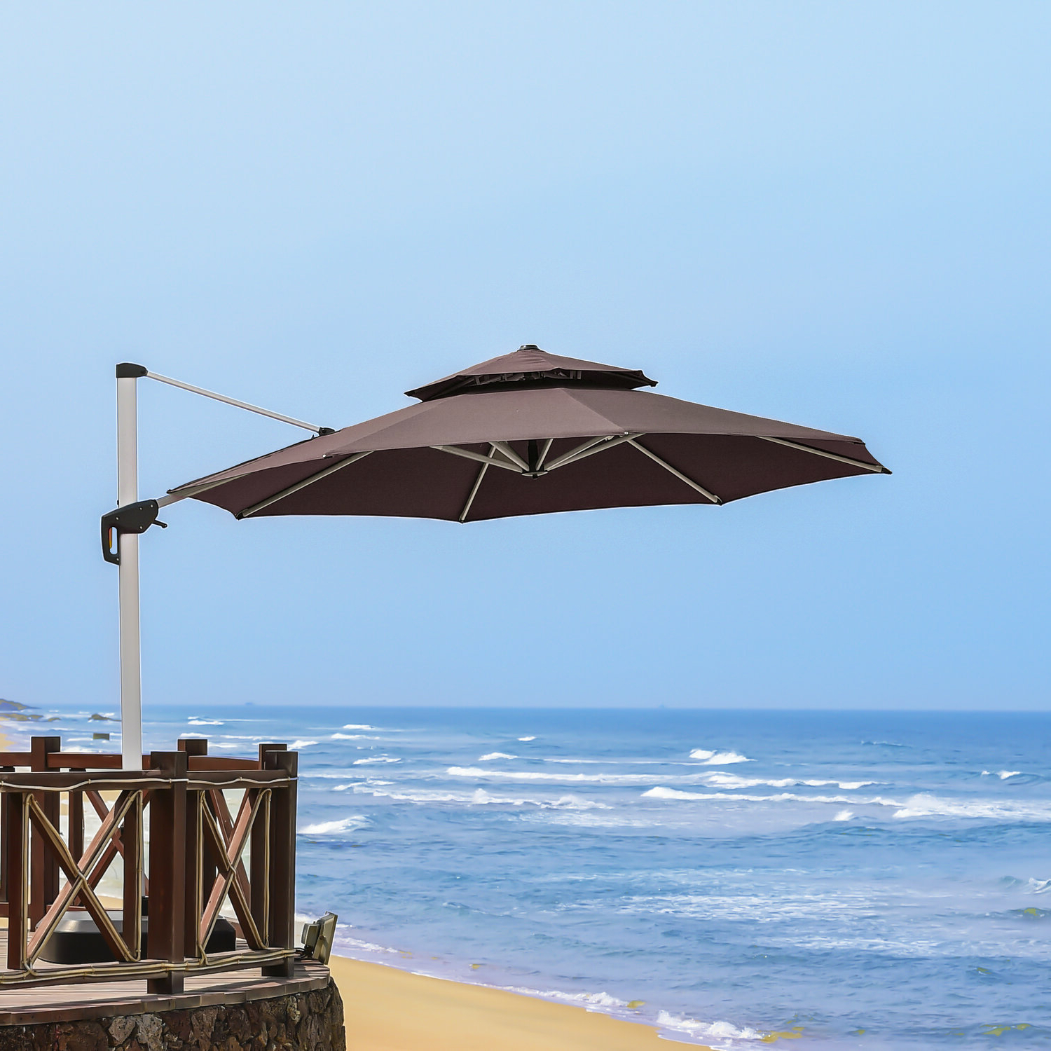 Mablethorpe Cantilever Umbrellas With Newest Mablethorpe 12' Cantilever Umbrella (Gallery 2 of 20)