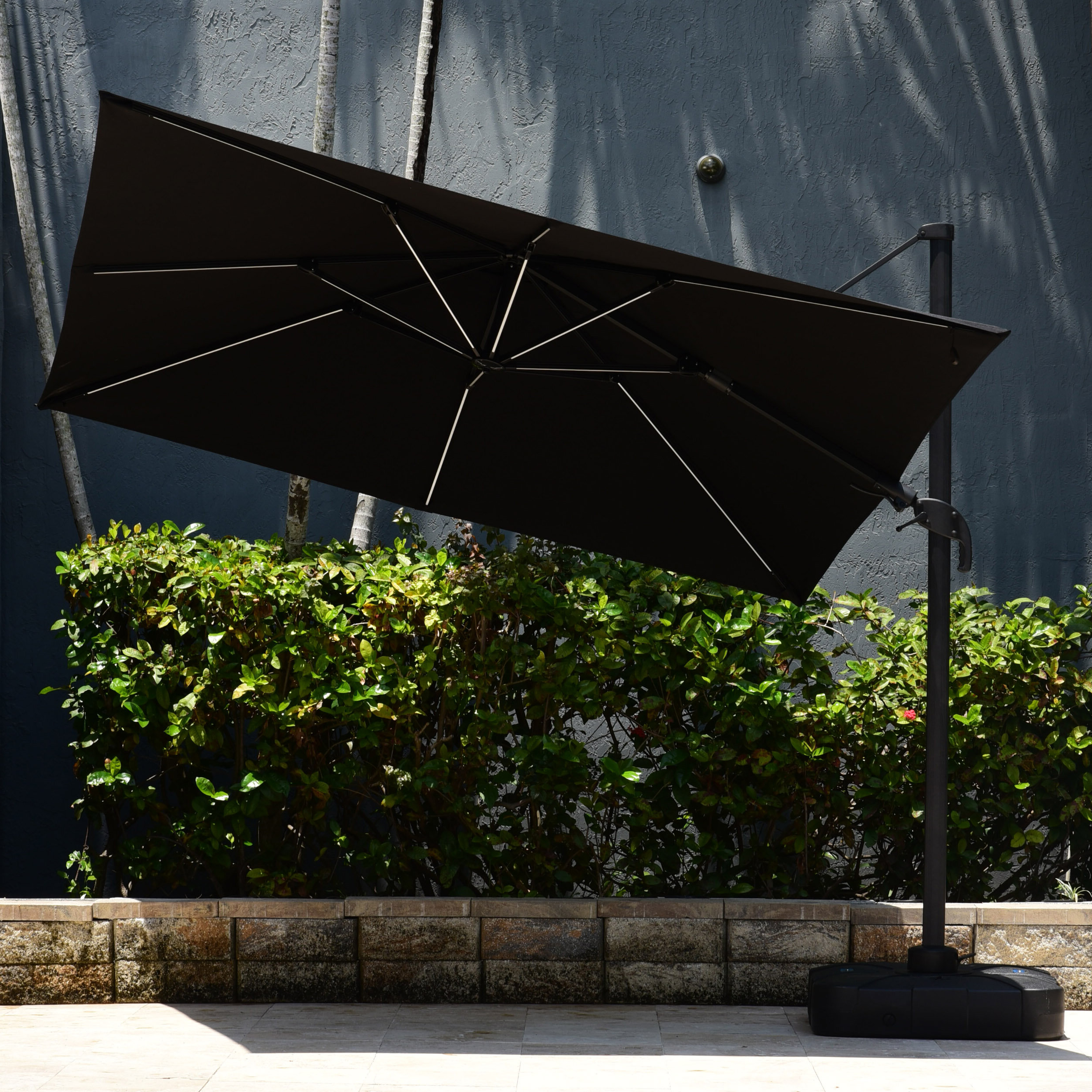 Macclesfield Square Cantilever Umbrellas Throughout Most Recently Released Spitler 10' Square Cantilever Umbrella (View 12 of 20)