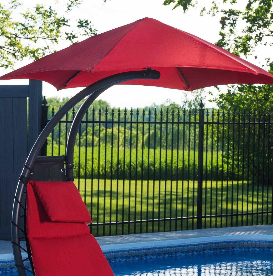 Maglione Fabric 4' Cantilever Umbrella Regarding Well Known Monty Half Market Umbrellas (Gallery 18 of 20)