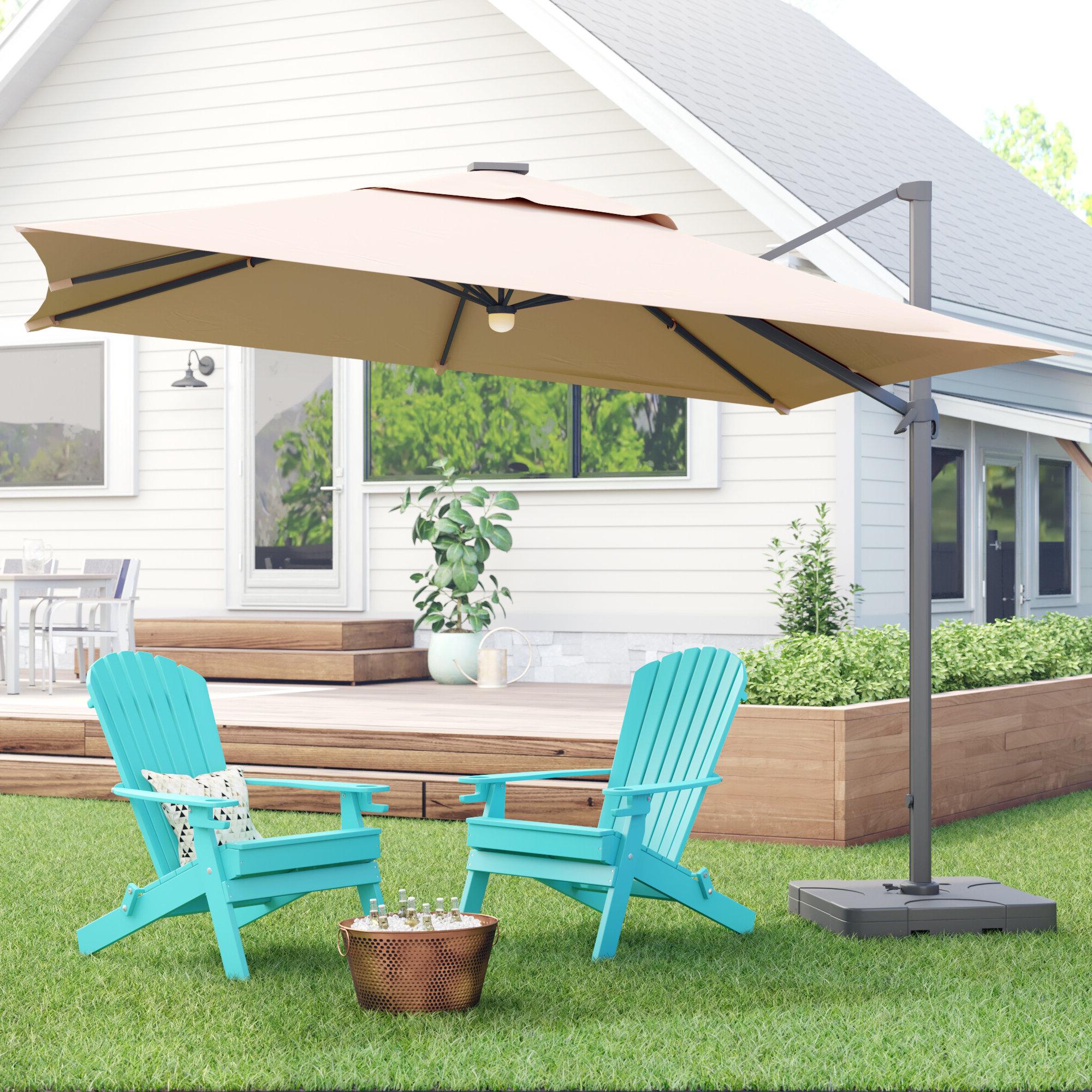 Maidste Square Cantilever Umbrellas For Preferred Jendayi Square Cantilever Umbrella (View 13 of 20)