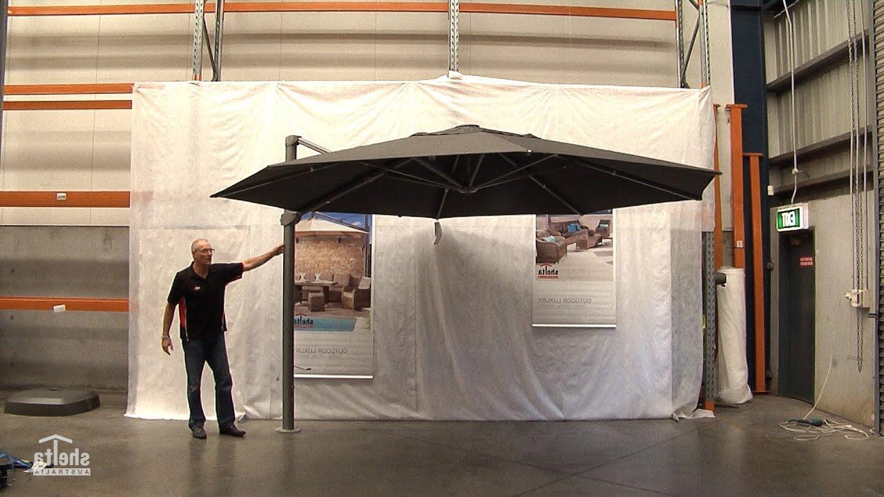 Maidste Square Cantilever Umbrellas Within Latest Shelta Asta 4Mx3M Rectangle Cantilever Umbrella (View 20 of 20)