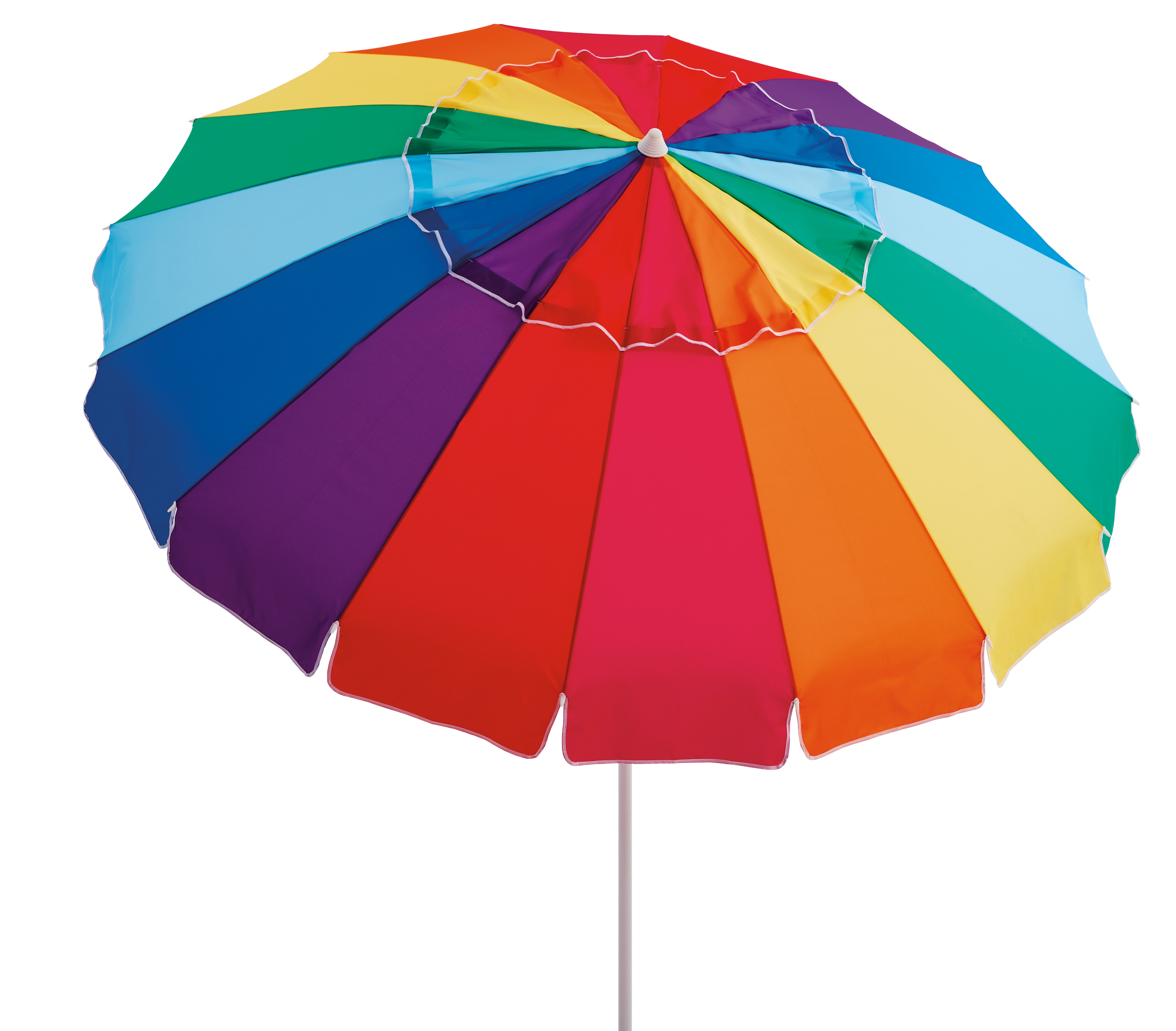 Mainstays 8 Ft. Vented Tilt Rainbow Beach Umbrella Within Well Known Tilt Beach Umbrellas (Gallery 3 of 20)