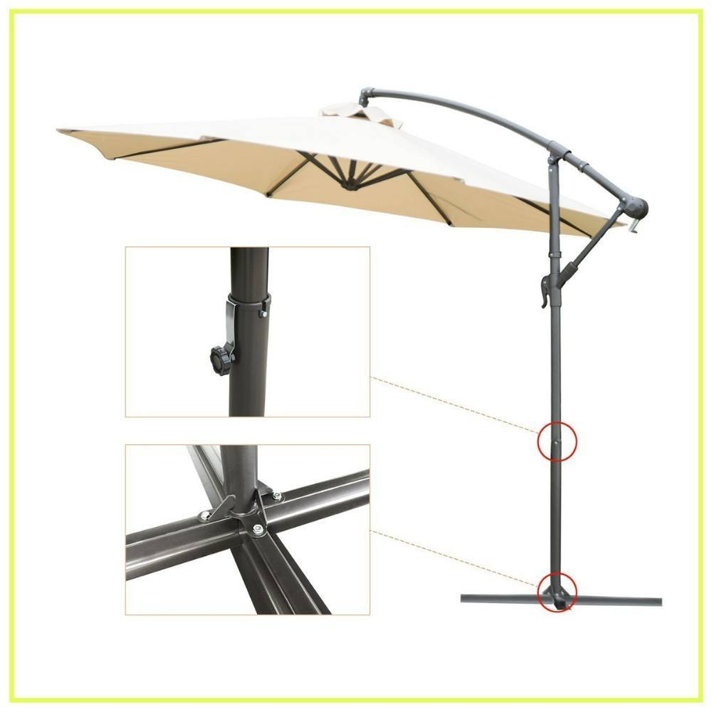 Mald Square Cantilever Umbrellas Within 2020 10 Best Cantilever Umbrellas In 2019: A Complete Guide And Reviews (Gallery 18 of 20)