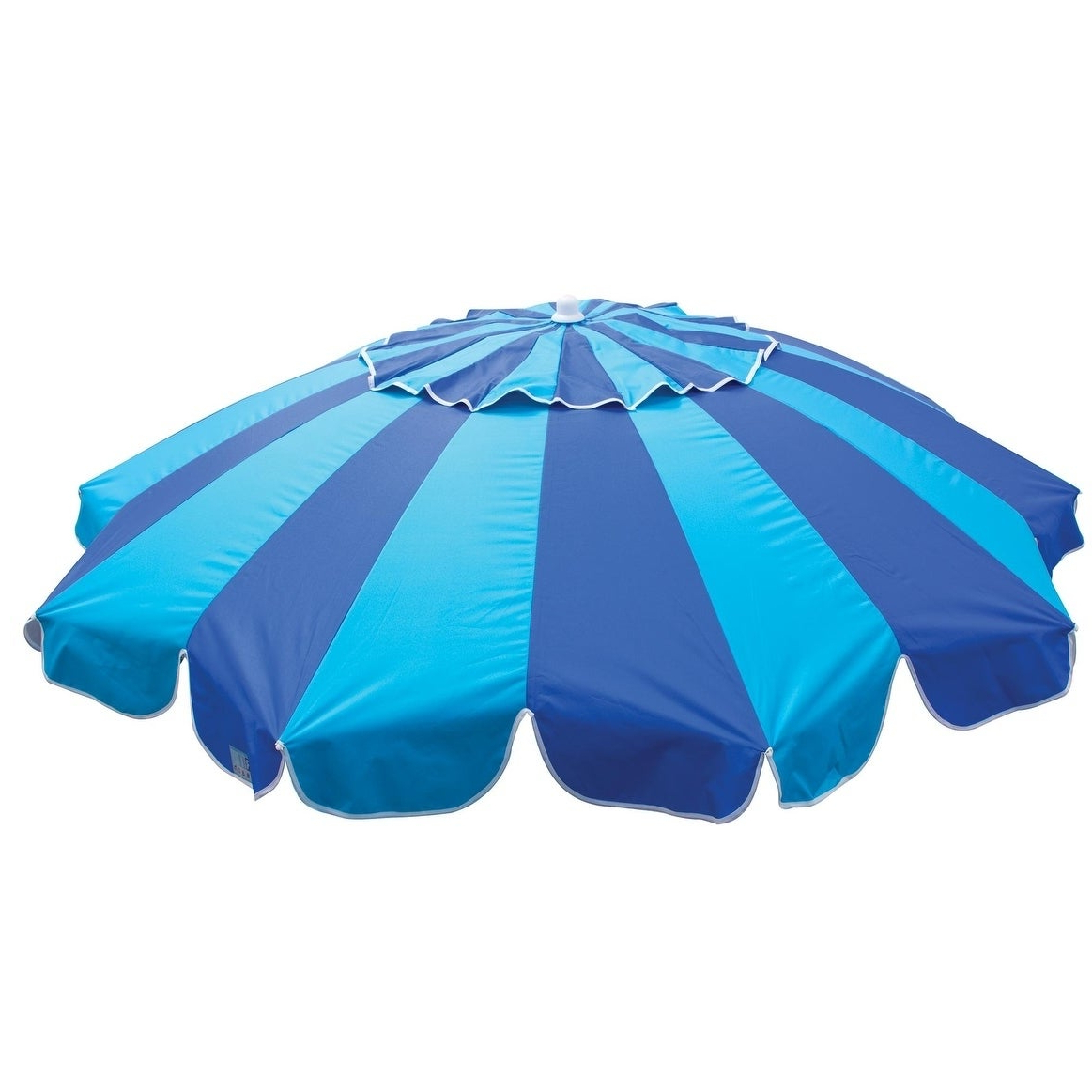 Margaritaville 7 Ft. Umbrella With Integrated Sand Anchor With Regard To Preferred Margaritaville Green And Blue Striped Beach With Built In Sand Anchor Umbrellas (Gallery 7 of 20)